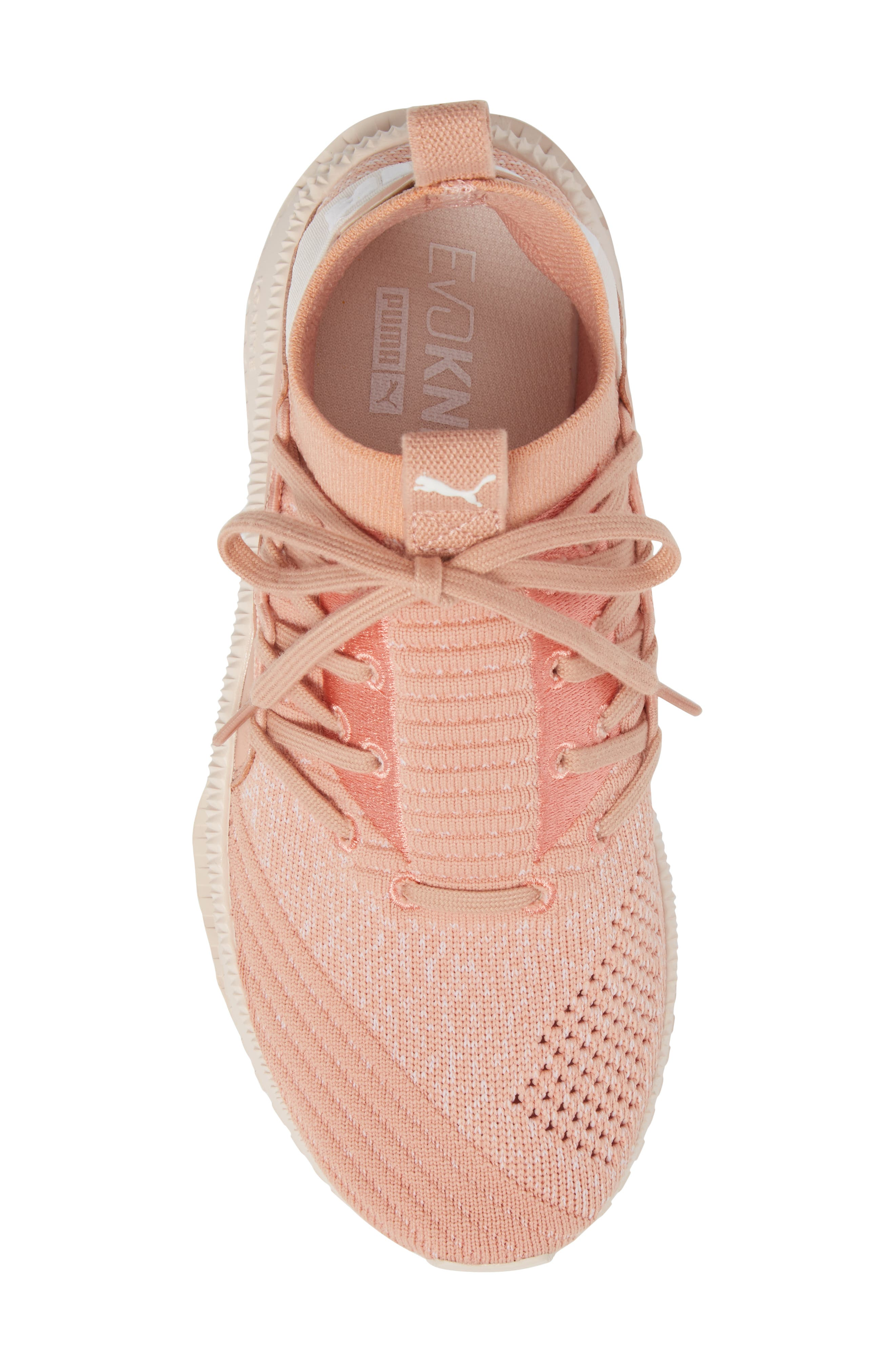 Tsugi Jun Knit Sneaker,                             Alternate thumbnail 5, color,                             Peach Beige/ Puma White/ Pearl