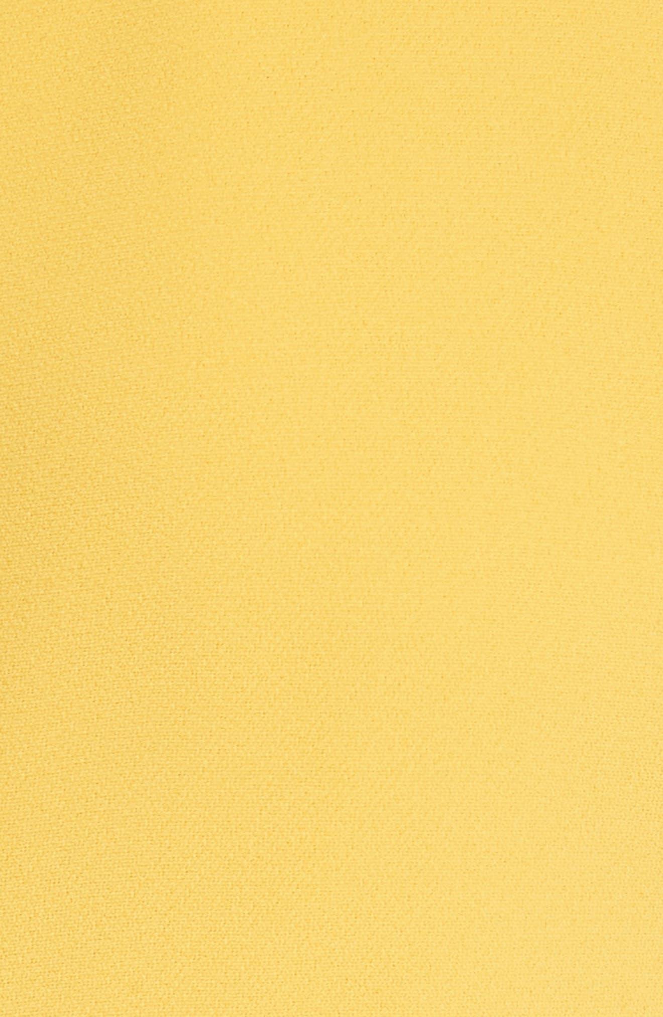 Sheath Midi Dress,                             Alternate thumbnail 6, color,                             Yellow