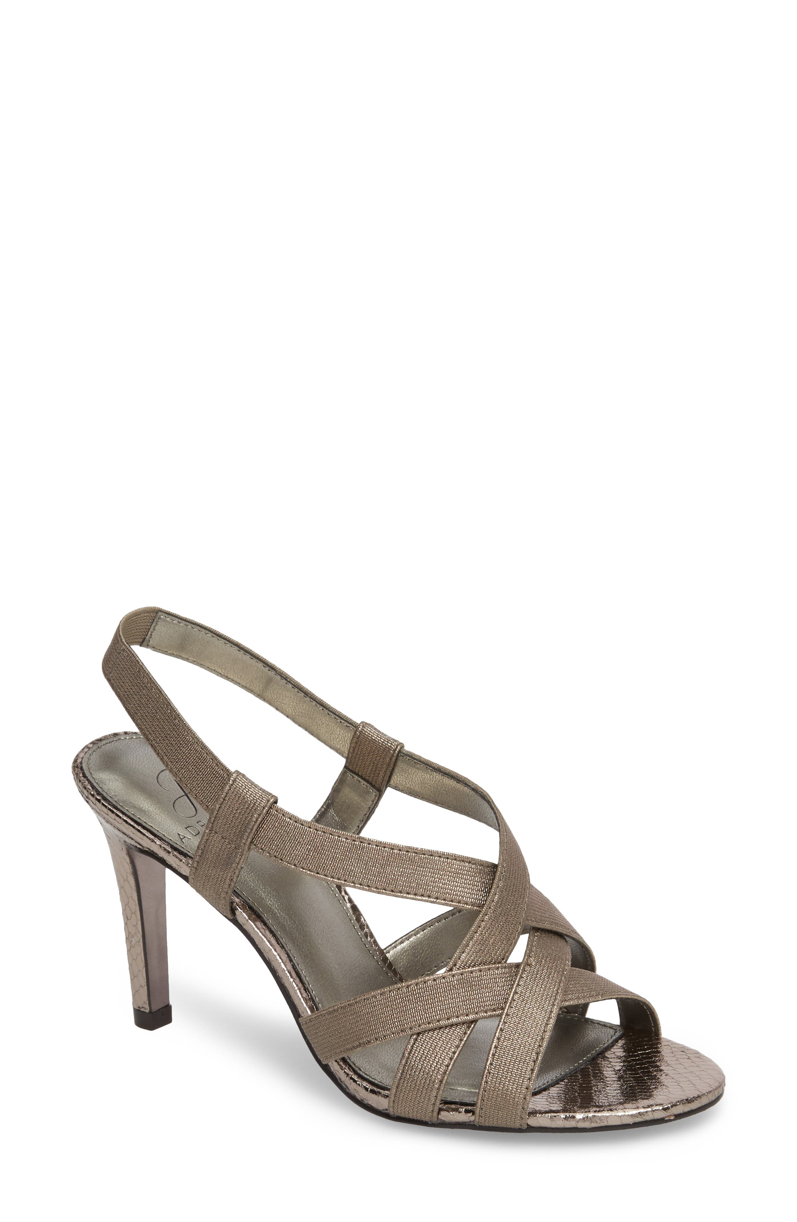 Addie Sandal,                         Main,                         color, Gunmetal Fabric