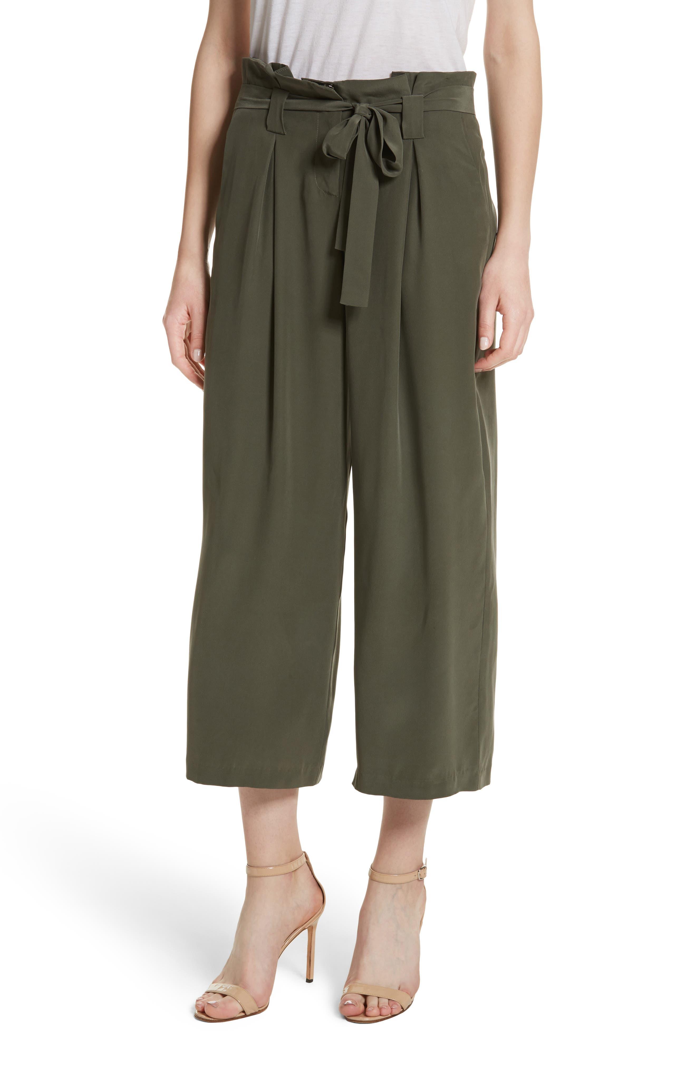 Main Image - L'AGENCE Samira Paperbag Wide Leg Pants