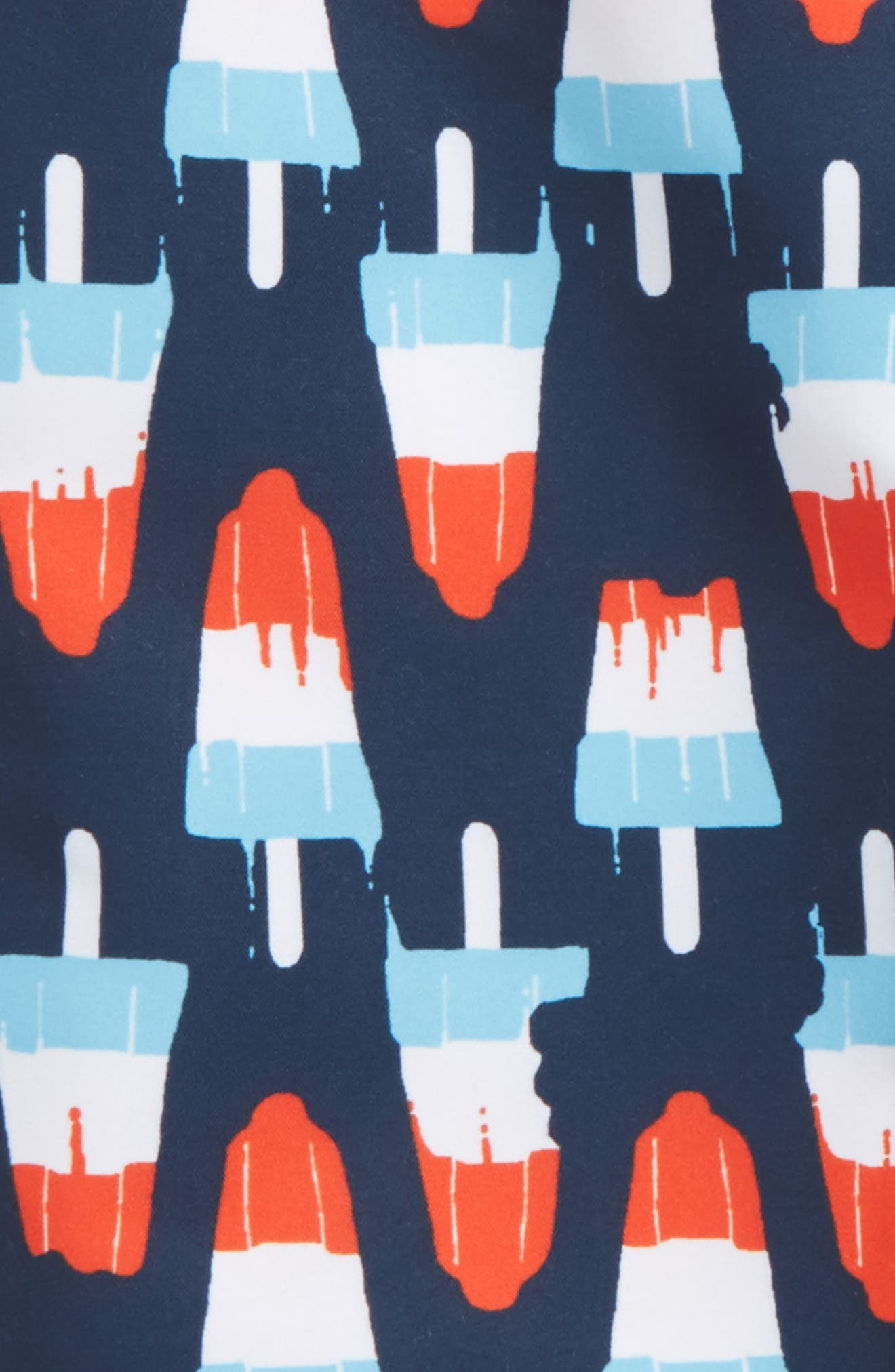 'Sand 'N My Trunks' Swim Trunks,                             Alternate thumbnail 2, color,                             Navy Dress Popsicles