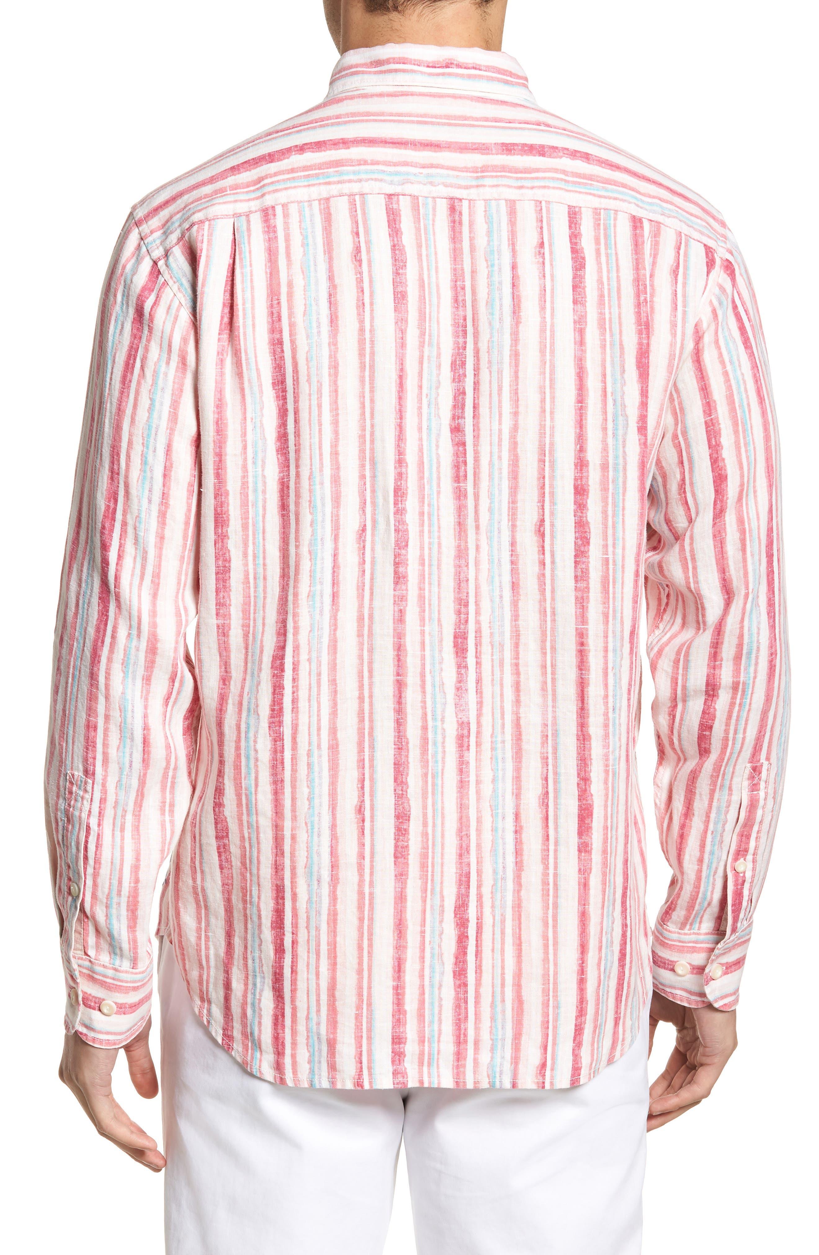 Alternate Image 2  - Tommy Bahama Watercrest Stripe Linen Sport Shirt
