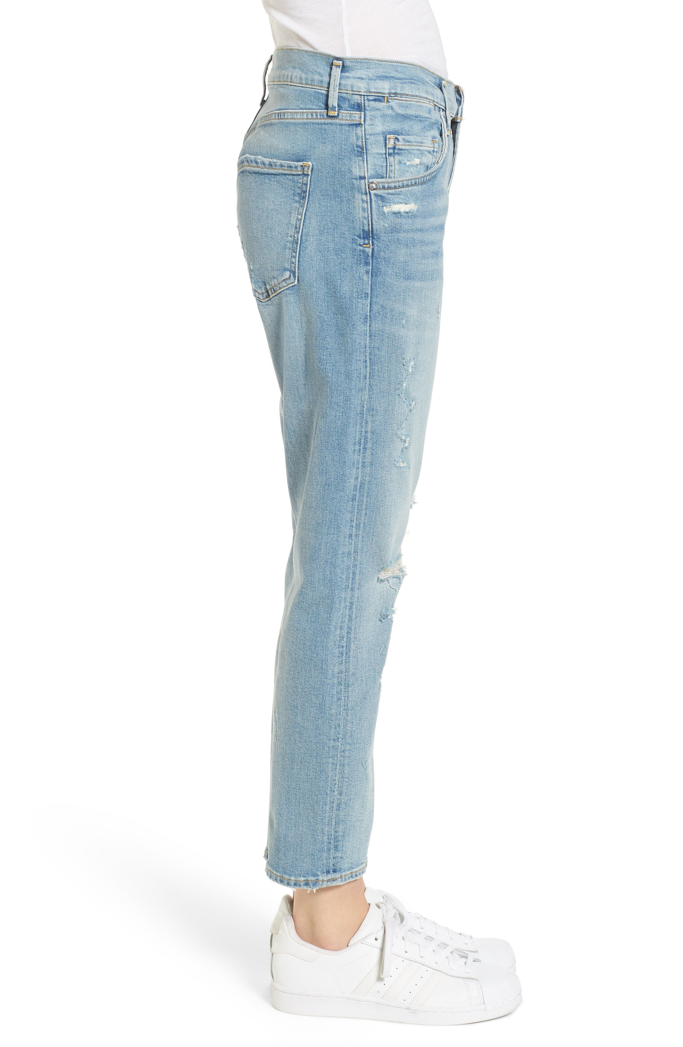 Isabel Ankle Slim Boyfriend Jeans,                             Alternate thumbnail 3, color,                             Dreamer