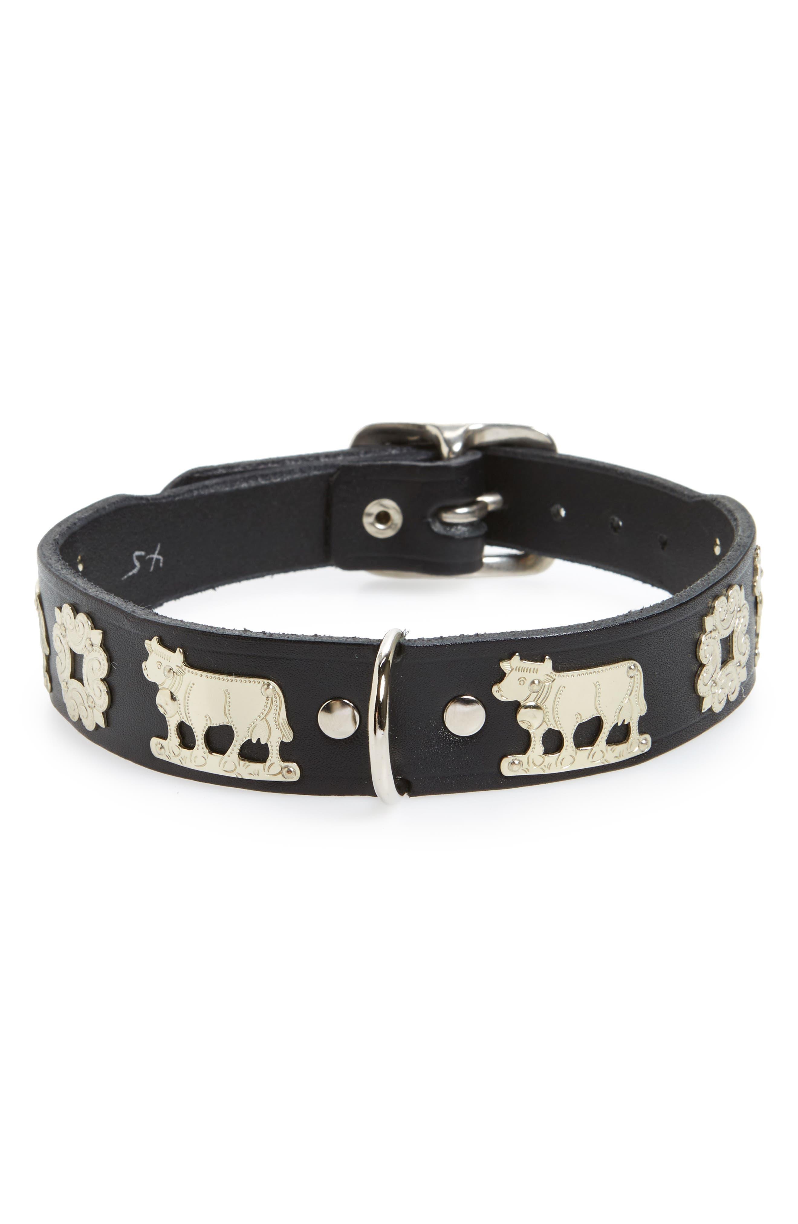 Contemporary 17-Inch Swiss Dog Collar,                         Main,                         color, Black