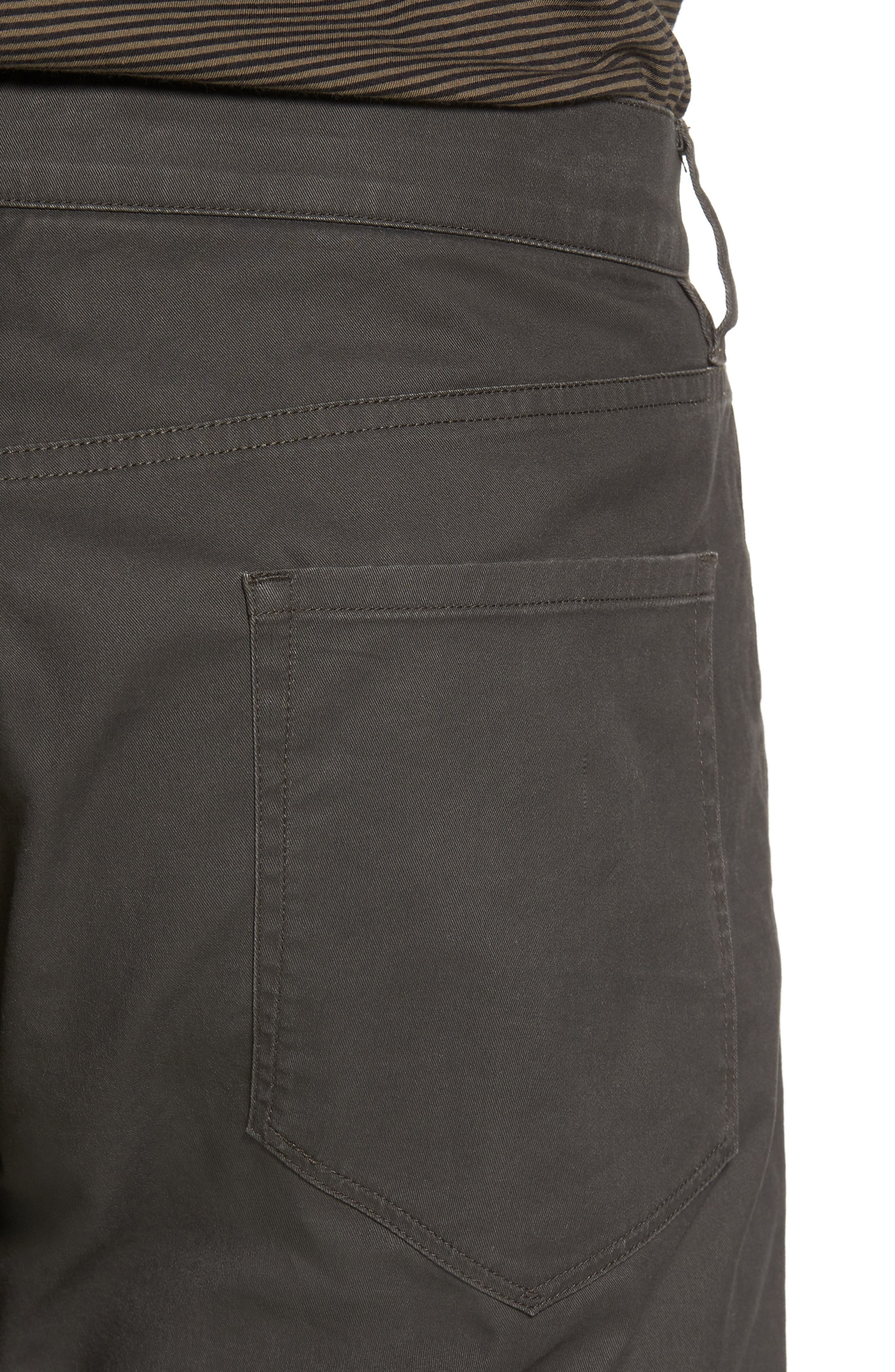Slim Fit Five-Pocket Pants,                             Alternate thumbnail 4, color,                             Charcoal