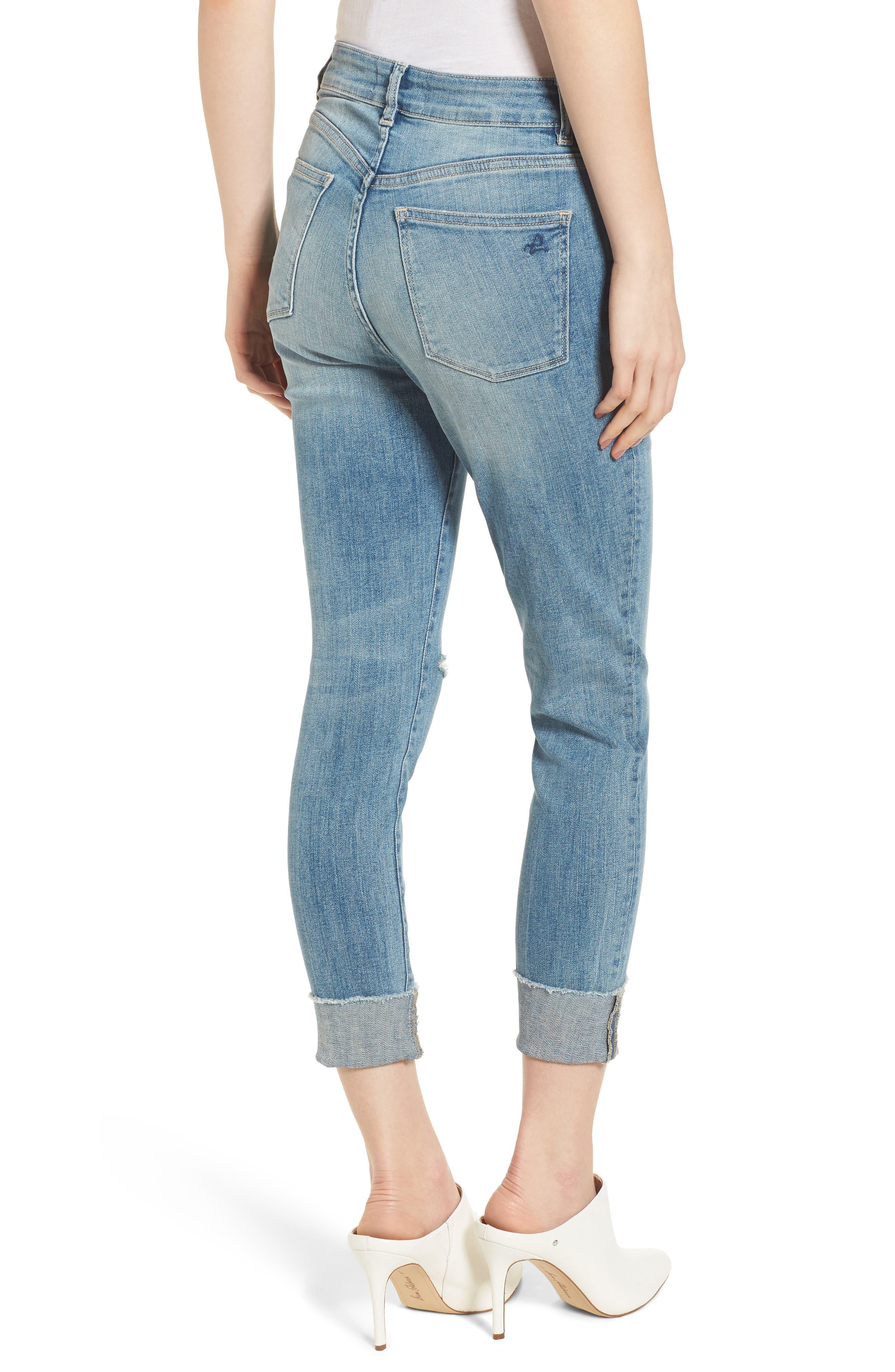 Farrow Instaslim High Waist Ankle Skinny Jeans,                             Alternate thumbnail 2, color,                             Amarillo