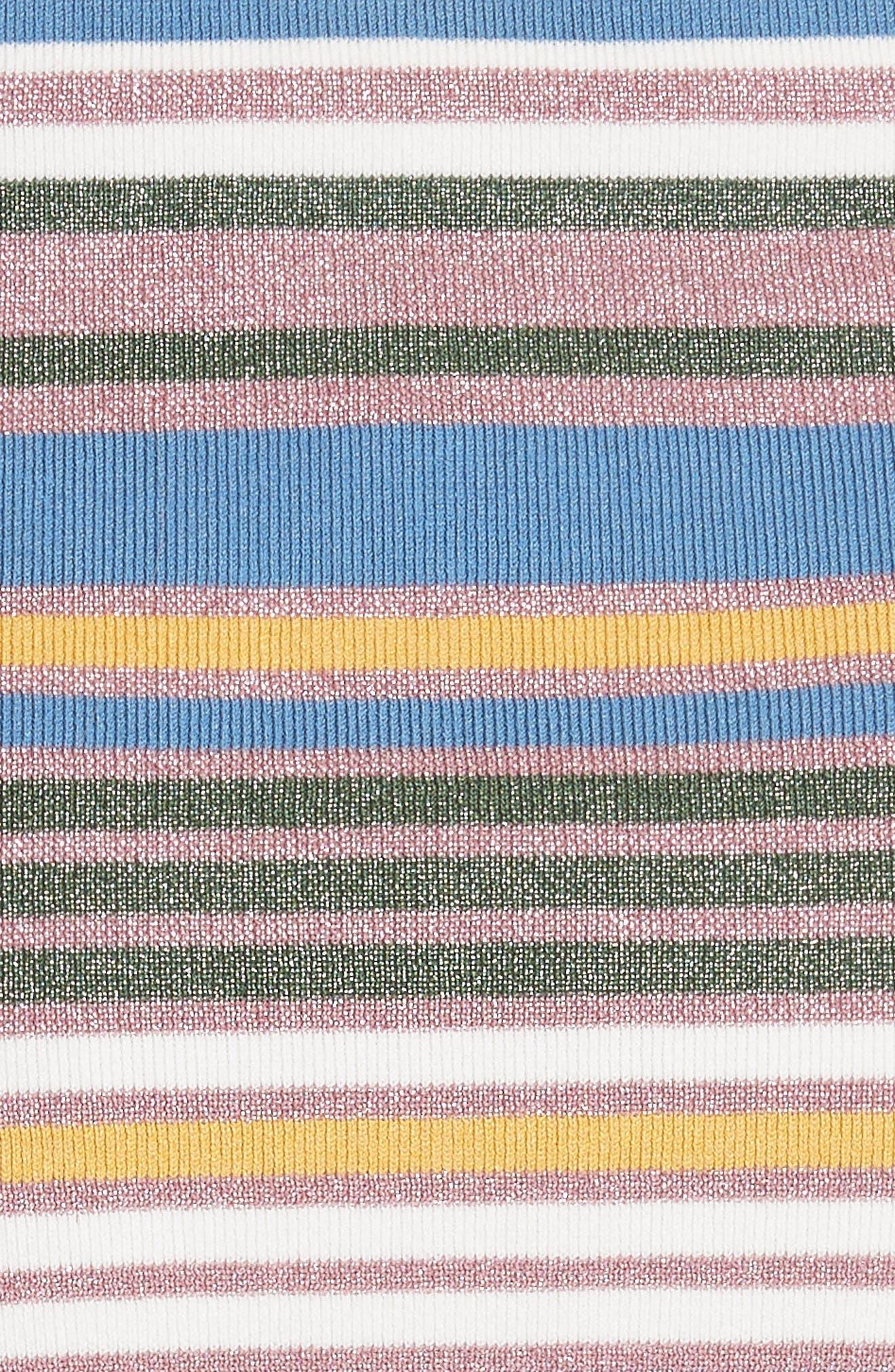 Alternate Image 5  - Veronica Beard Dulce Glitter Stripe Dress