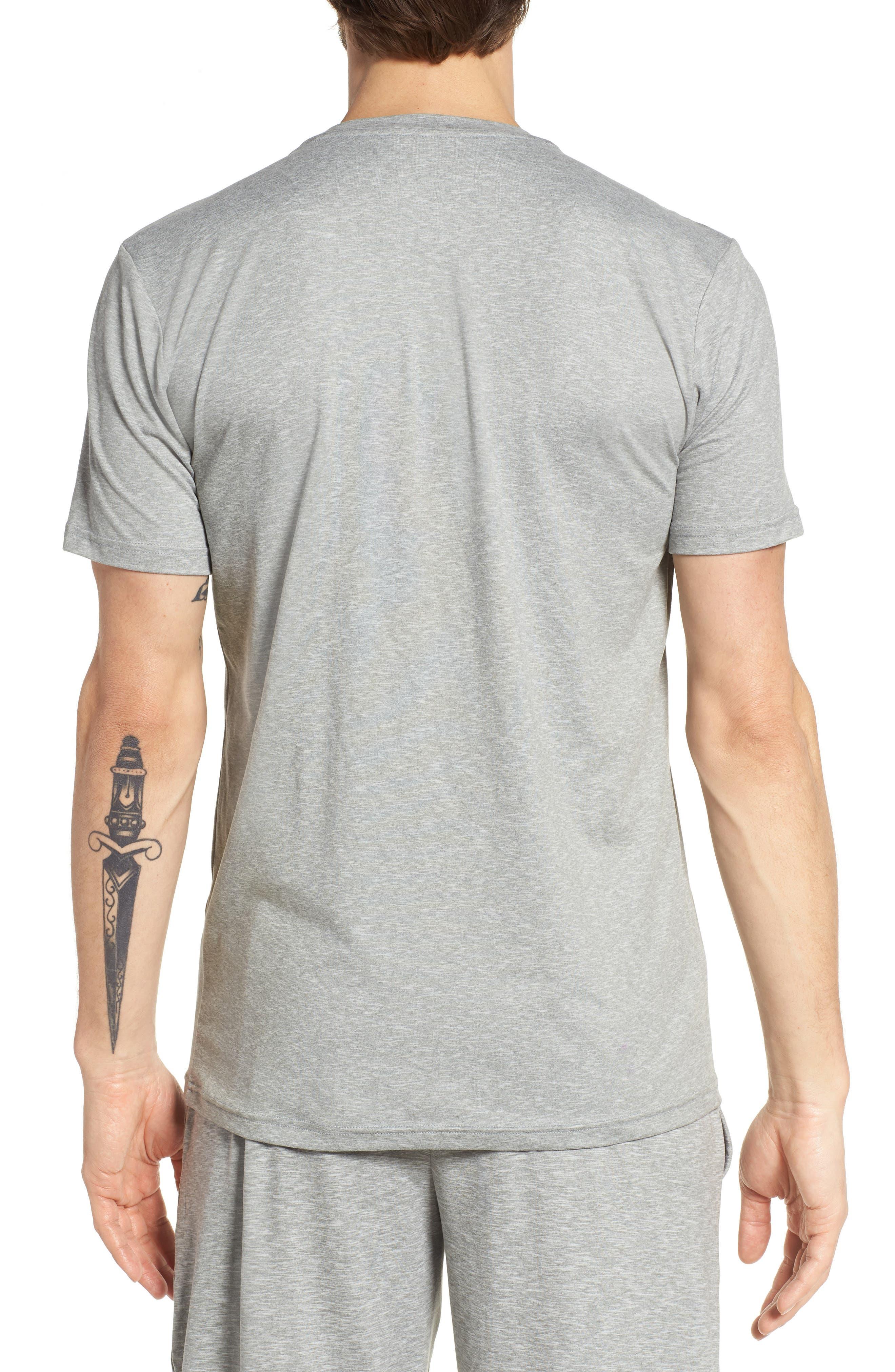 Therma Sleep Crewneck T-Shirt,                             Alternate thumbnail 2, color,                             Andover Heather/ Nevis