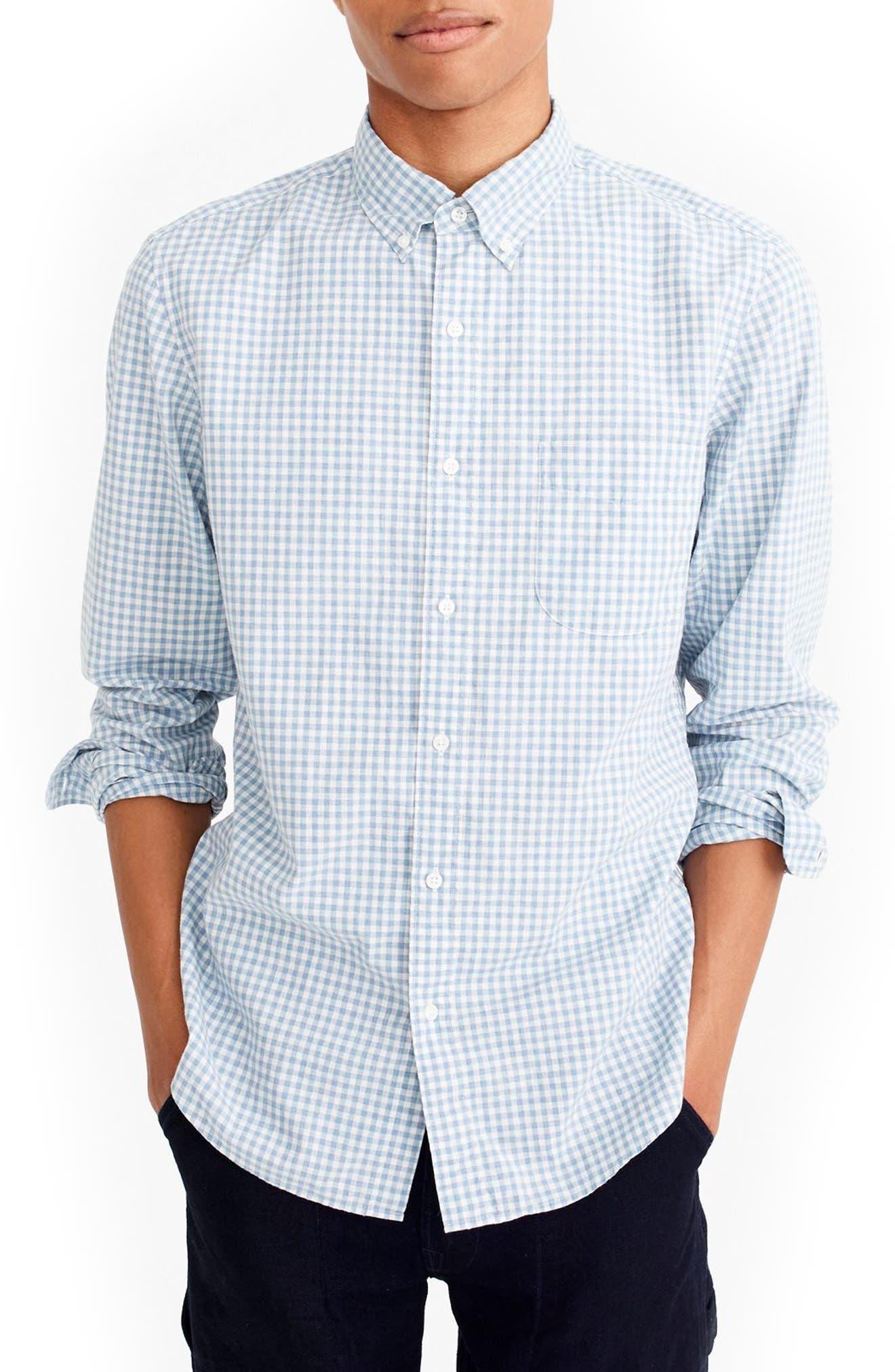 Slim Stretch Secret Wash Sport Shirt,                         Main,                         color, Dusty Peri