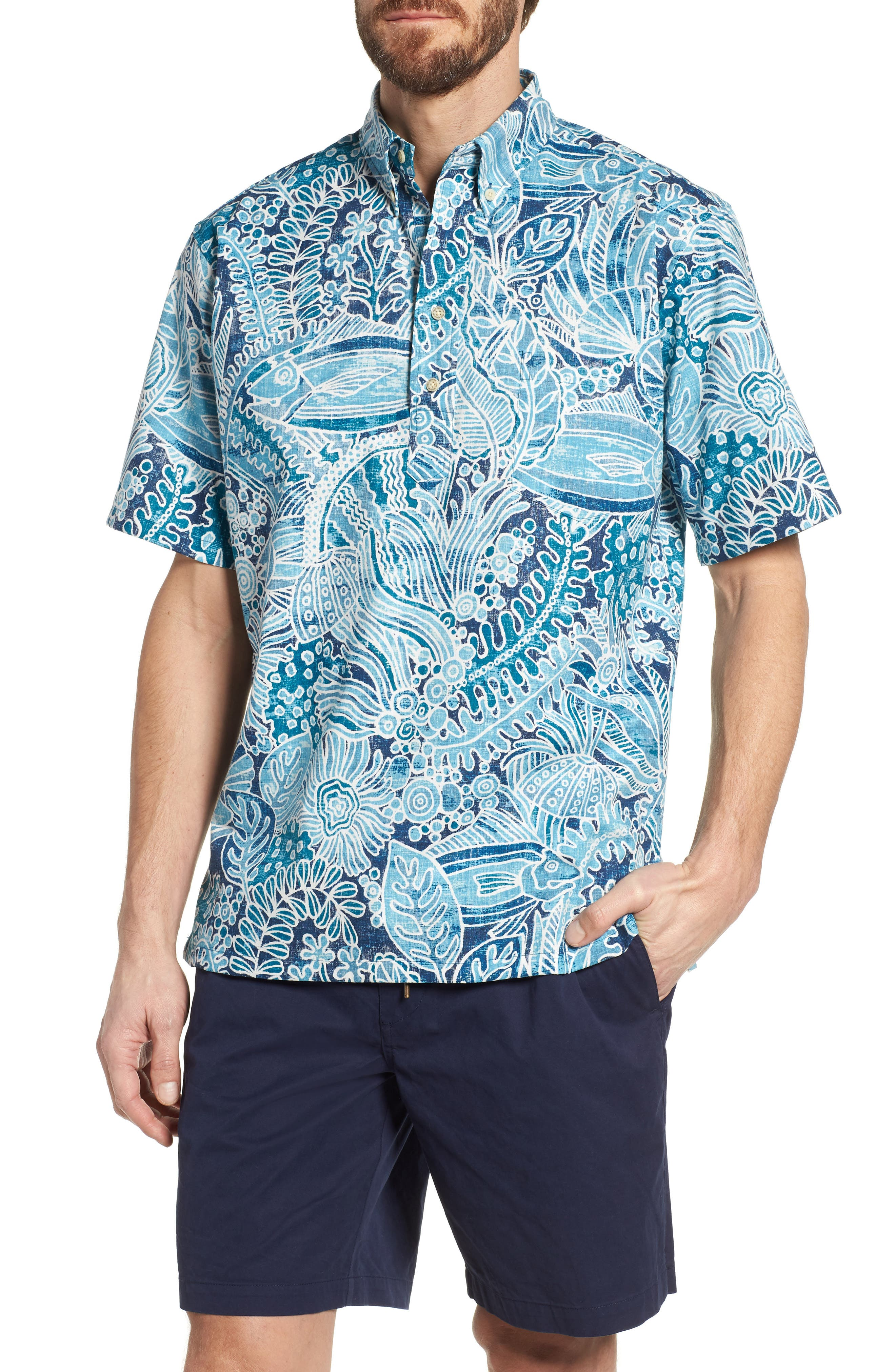 Deep Water Classic Fit Polo,                         Main,                         color, Navy