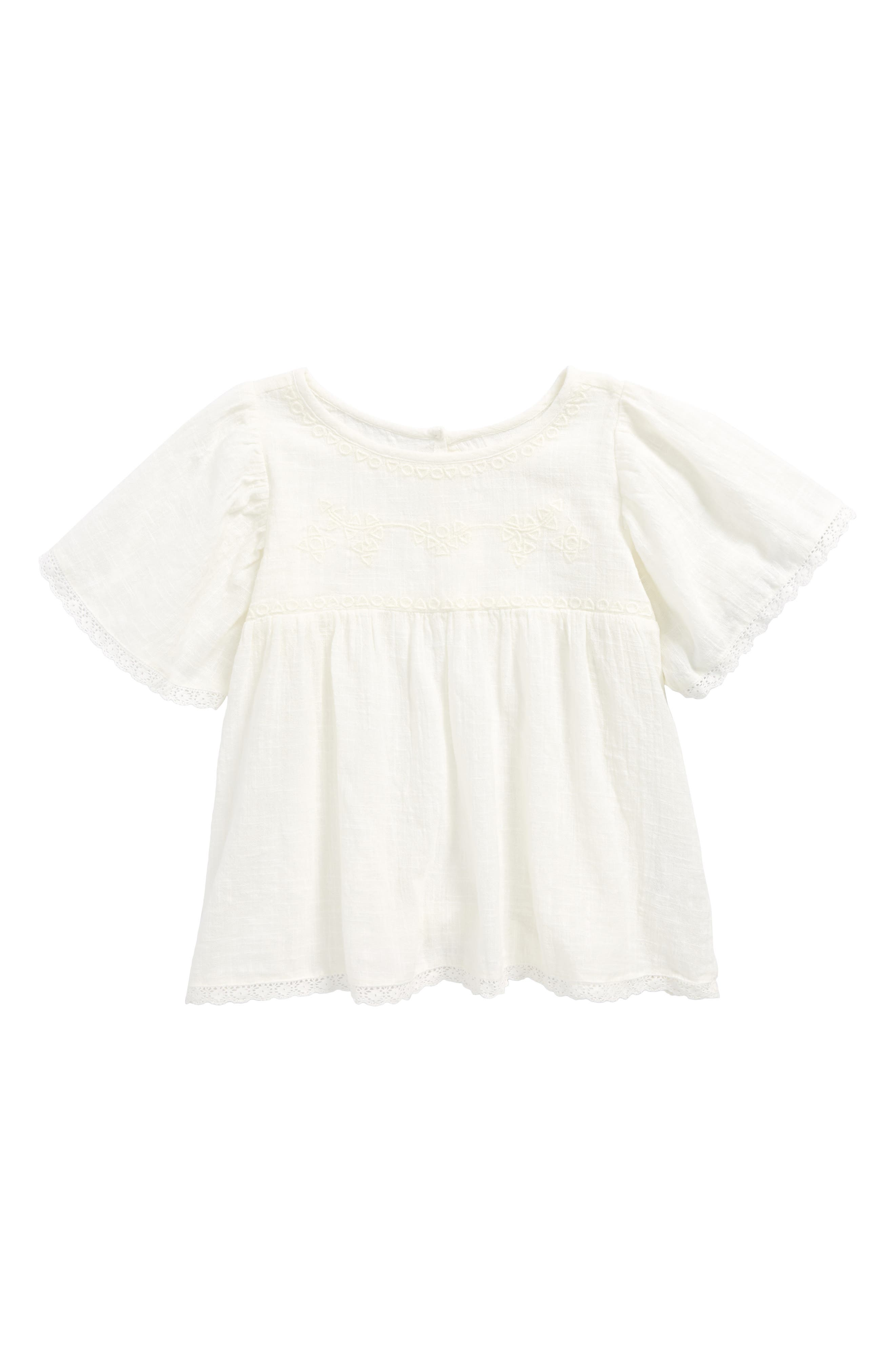 Lace Trimmed Tunic,                         Main,                         color, Ivory Egret
