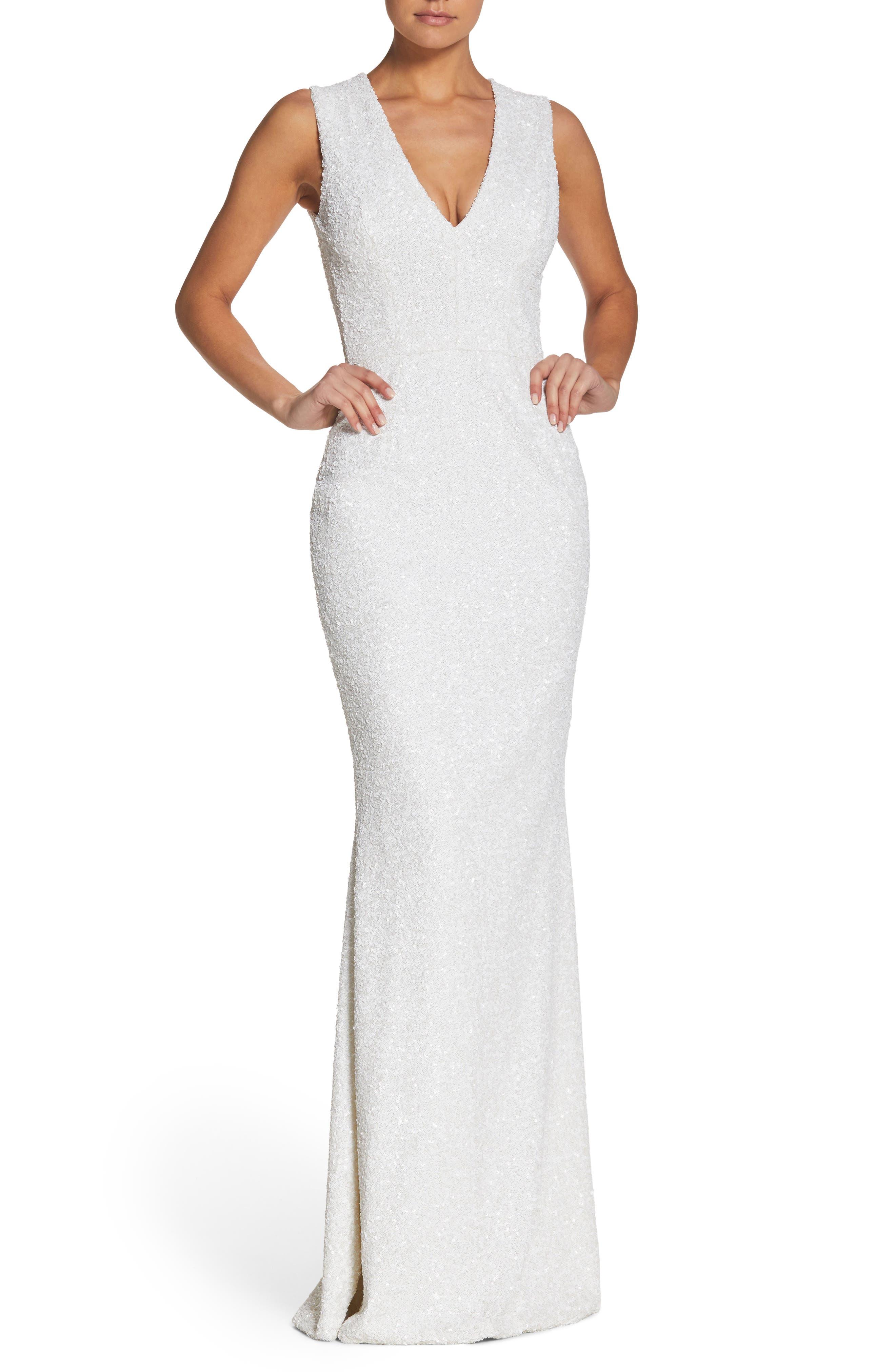 Dress the Population Karina Plunge Mermaid Gown