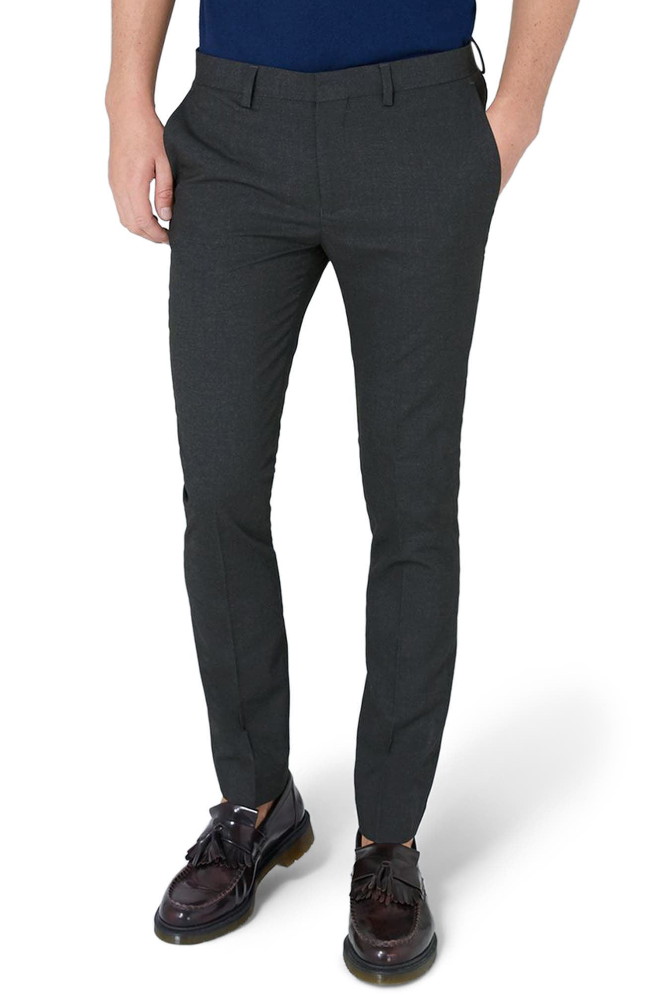 Ultra Skinny Fit Trousers,                             Main thumbnail 1, color,                             Charcoal