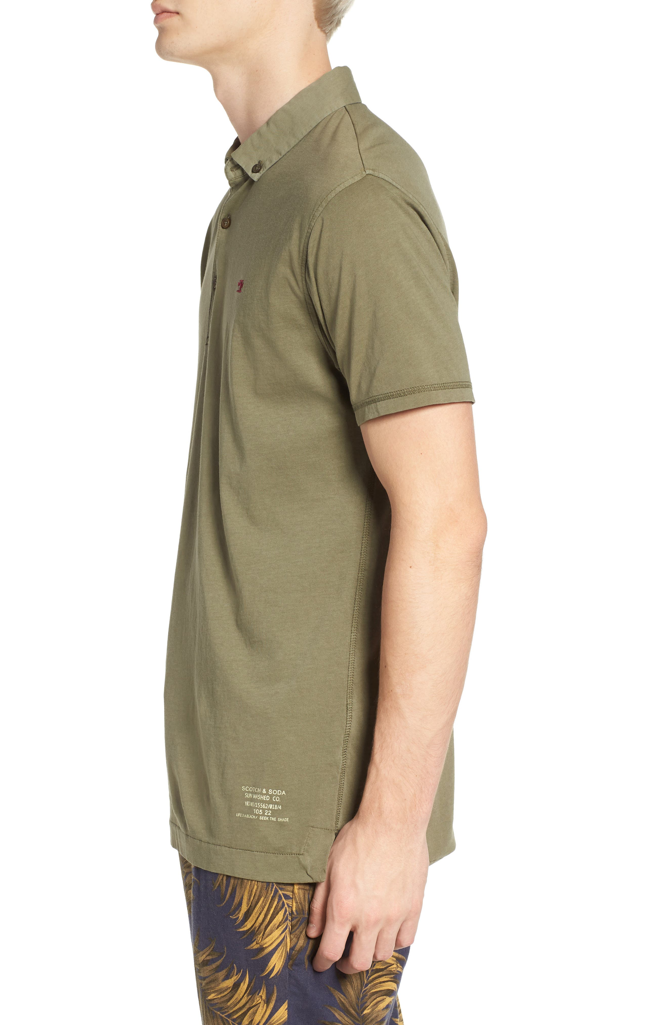 Classic Jersey Polo,                             Alternate thumbnail 3, color,                             Army