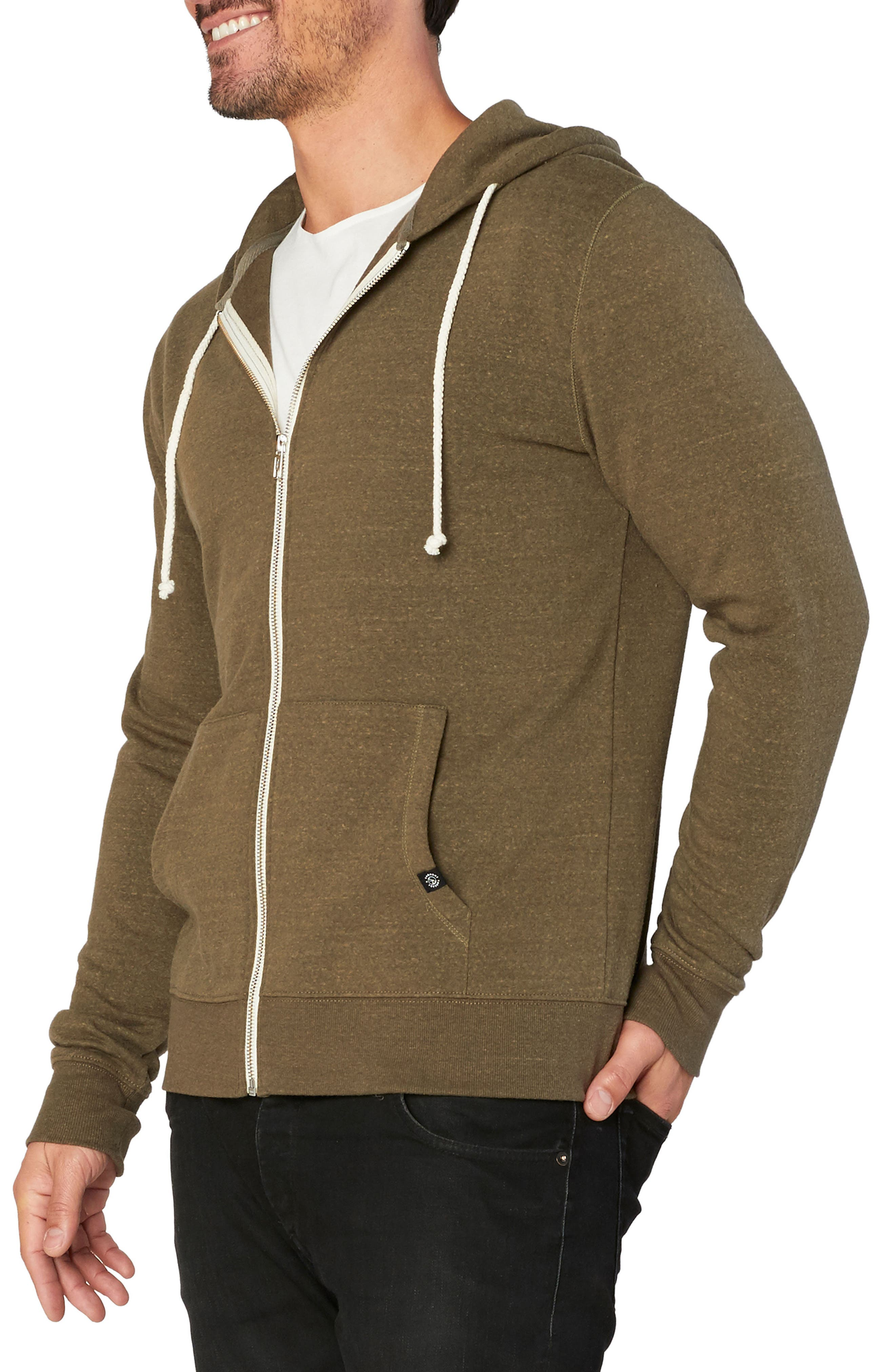 Alternate Image 3  - Threads for Thought Trim Fit Heathered Hoodie
