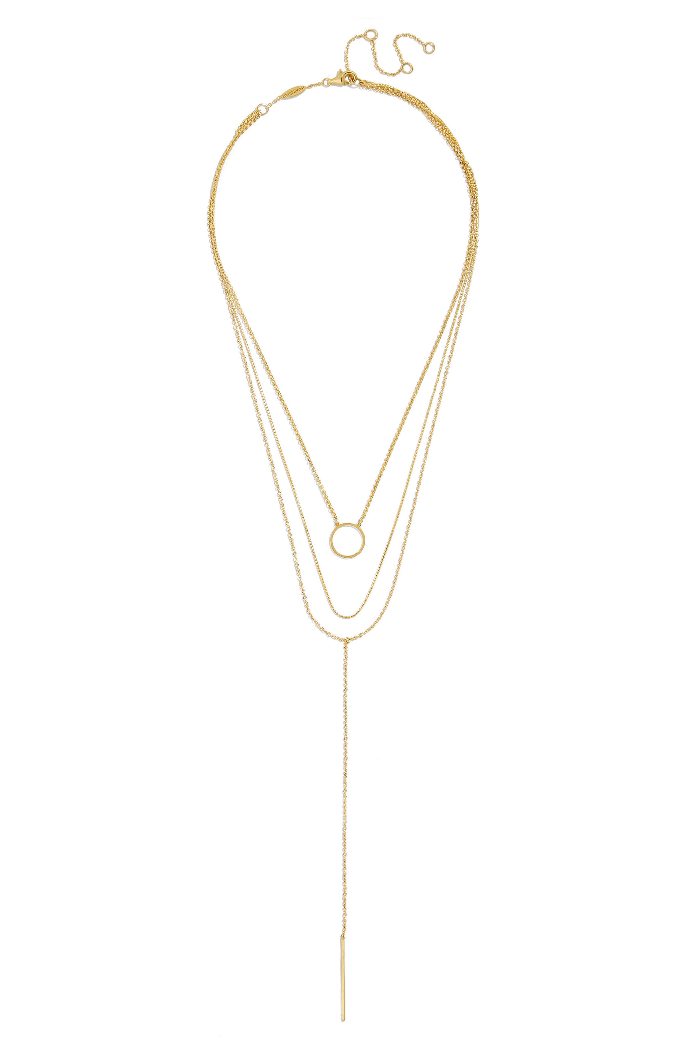 BaubleBar Anello Everyday Fine Layered Y Necklace