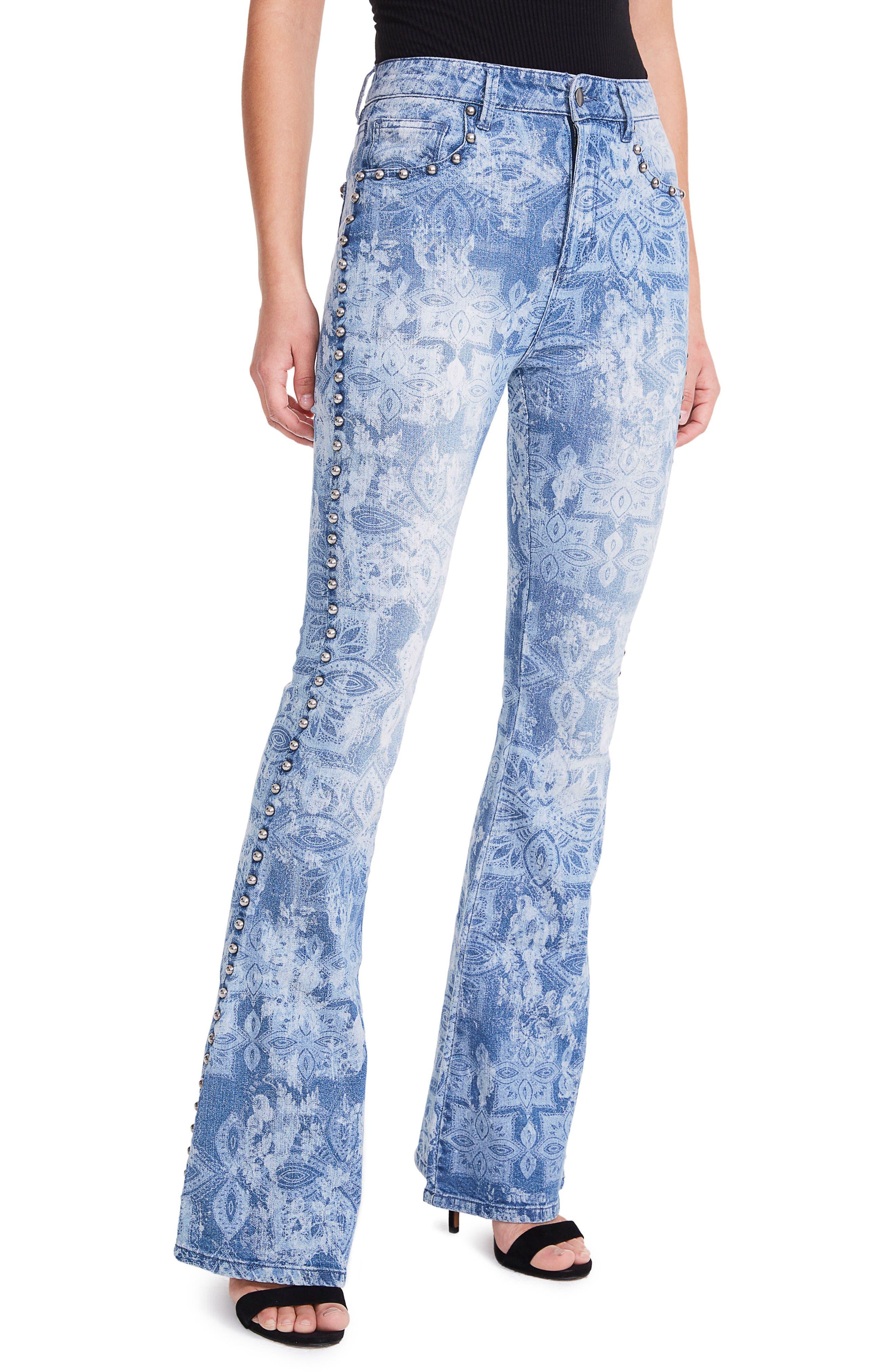 AFRM Taylor Studded High Waist Flare Jeans