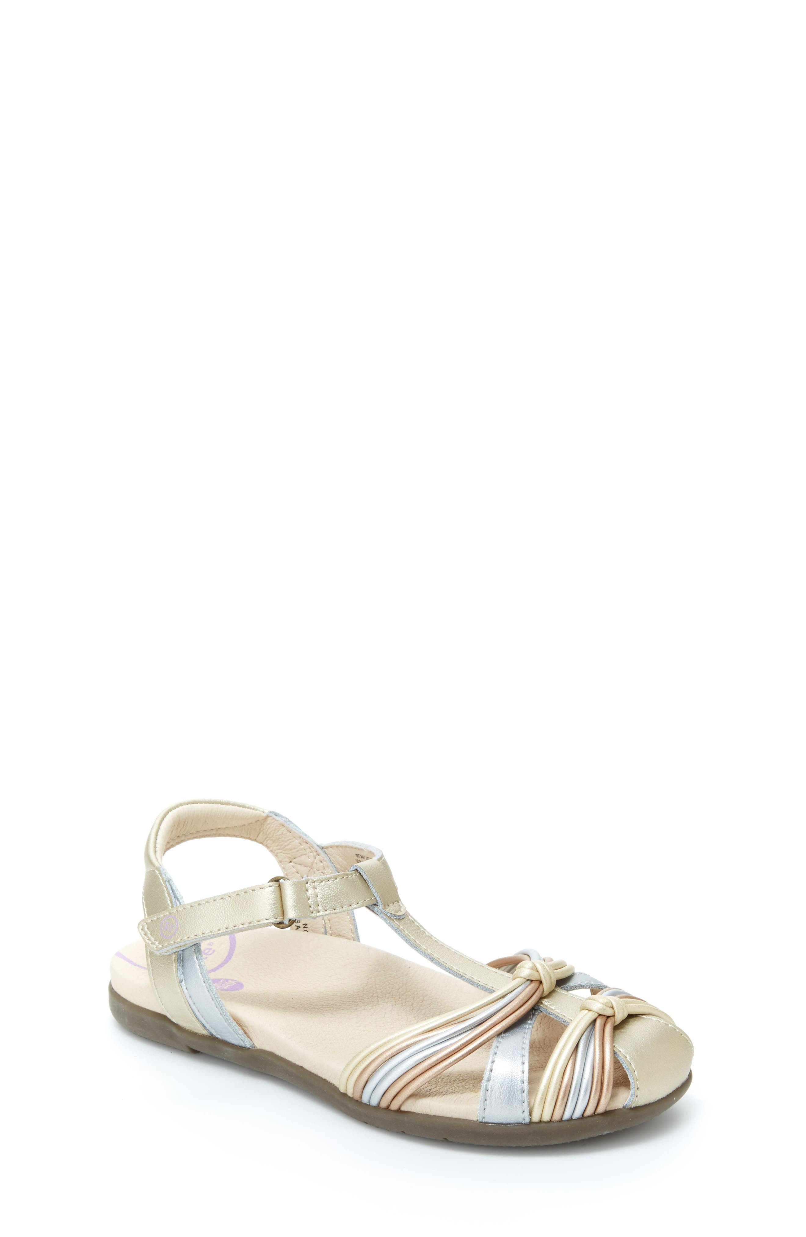 Dana T-Strap Sandal,                             Main thumbnail 1, color,                             Metallic Multi