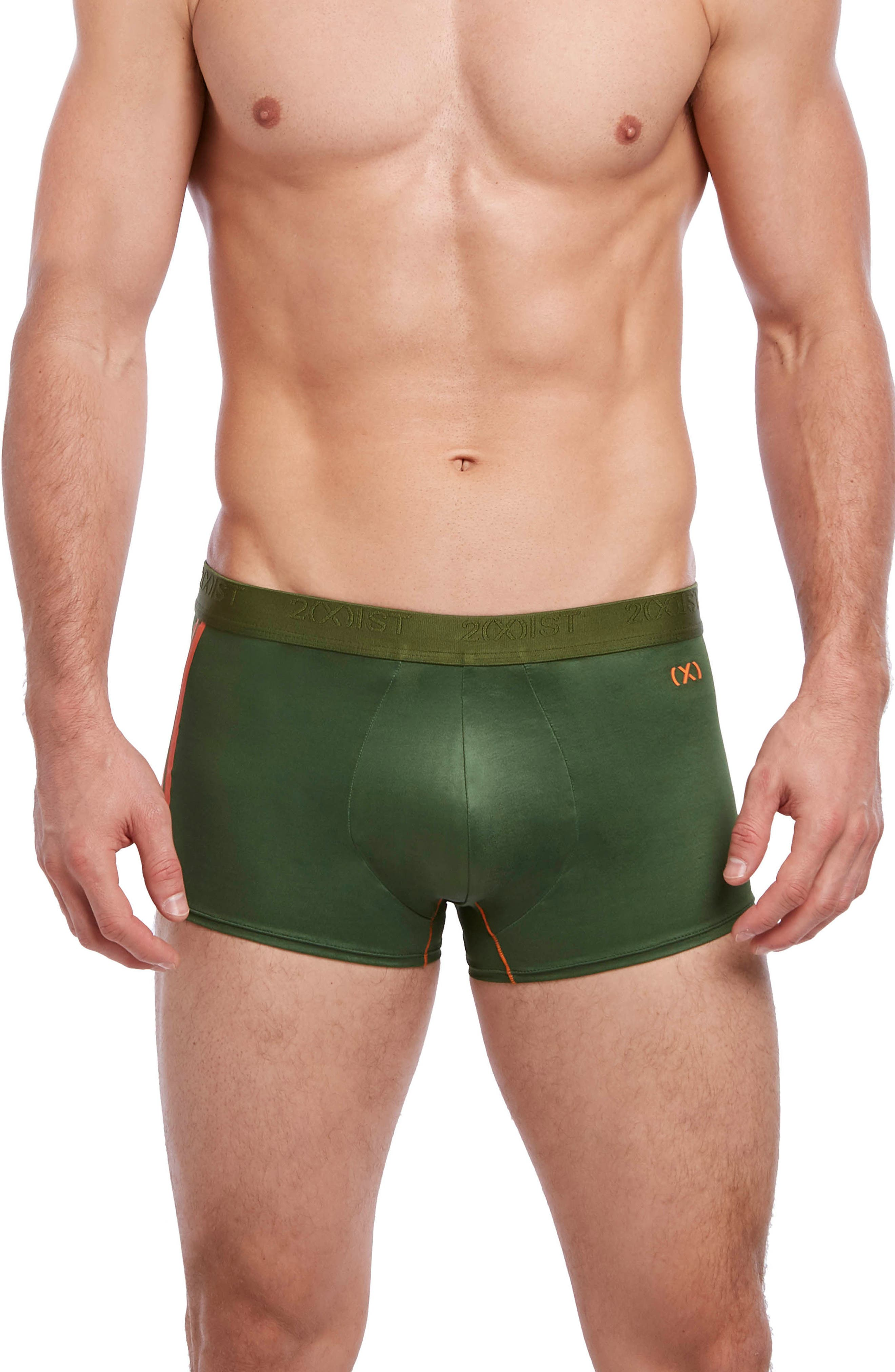 Military No-Show Trunks,                             Main thumbnail 1, color,                             Chive/ Golden Poppy
