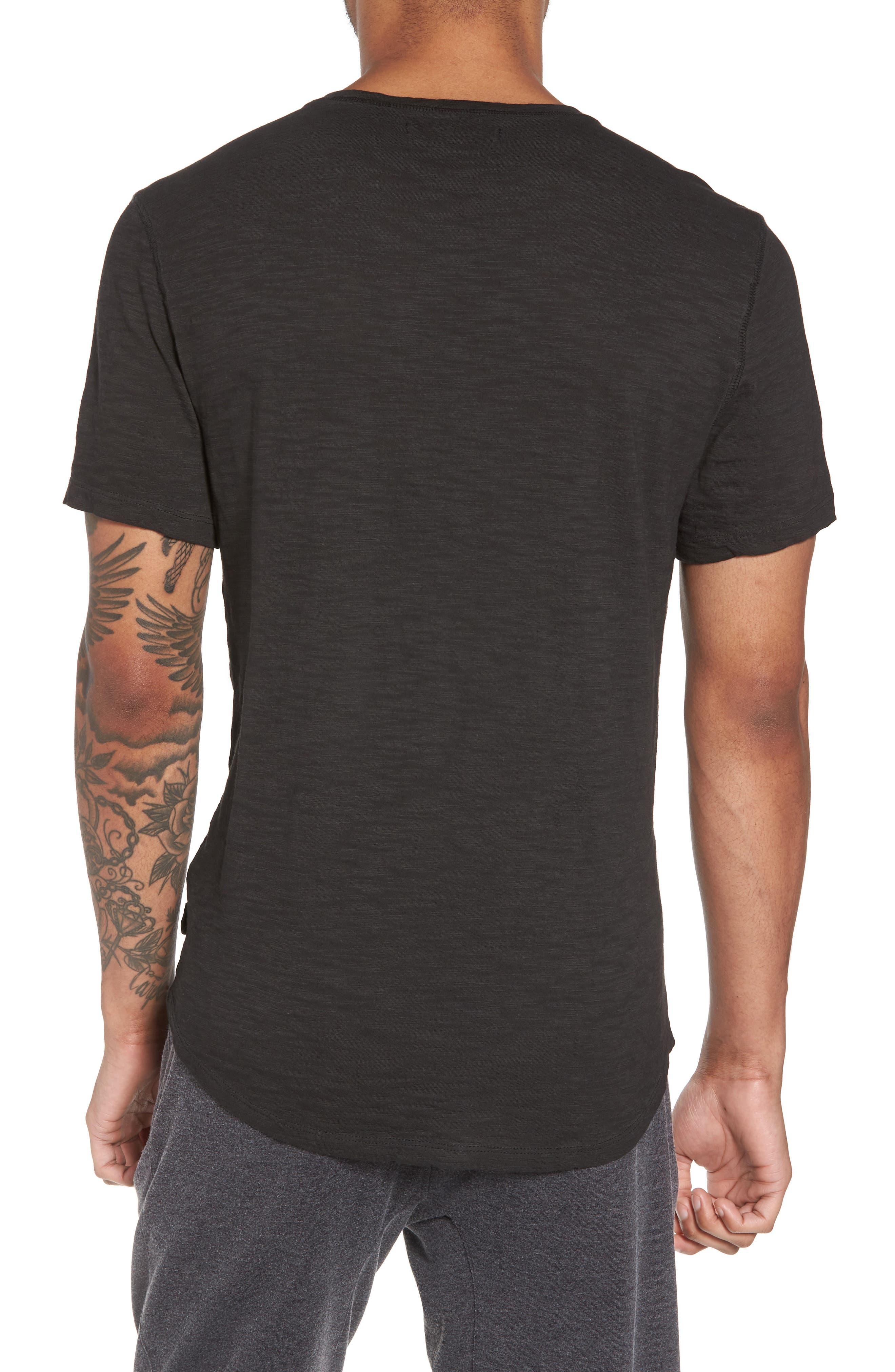 Slim Fit Slubbed T-Shirt,                             Alternate thumbnail 2, color,                             Black