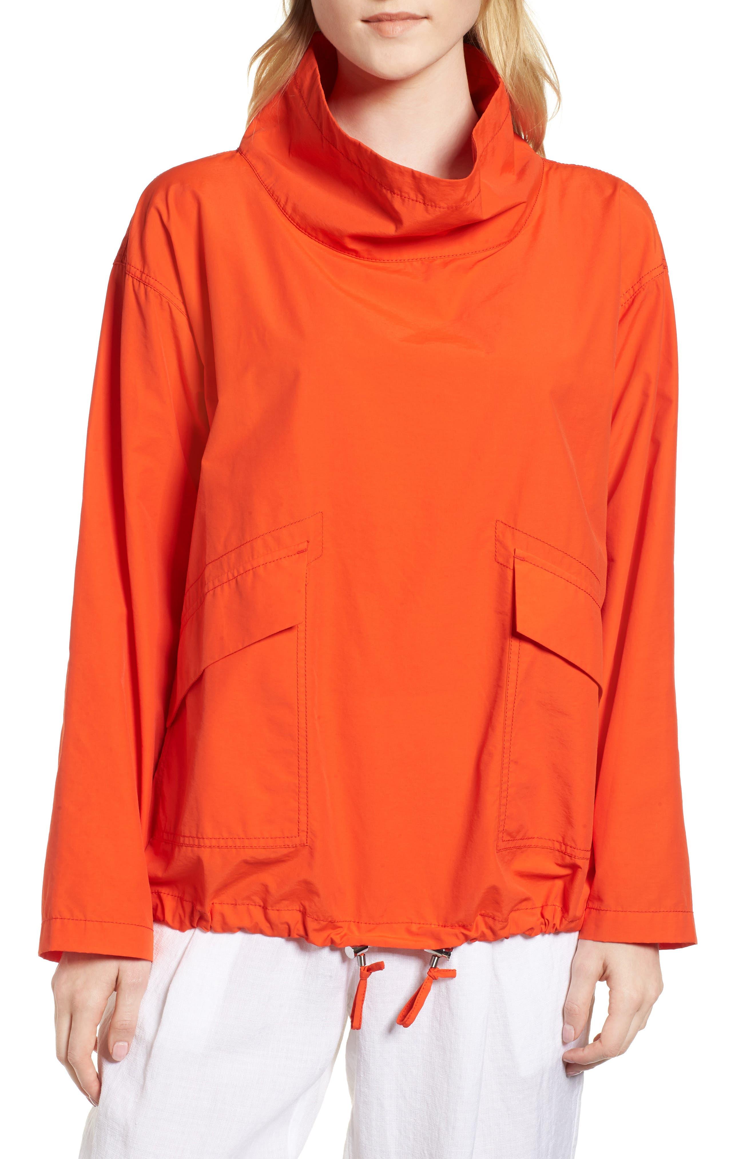Pullover Jacket,                             Main thumbnail 1, color,                             Hot Red