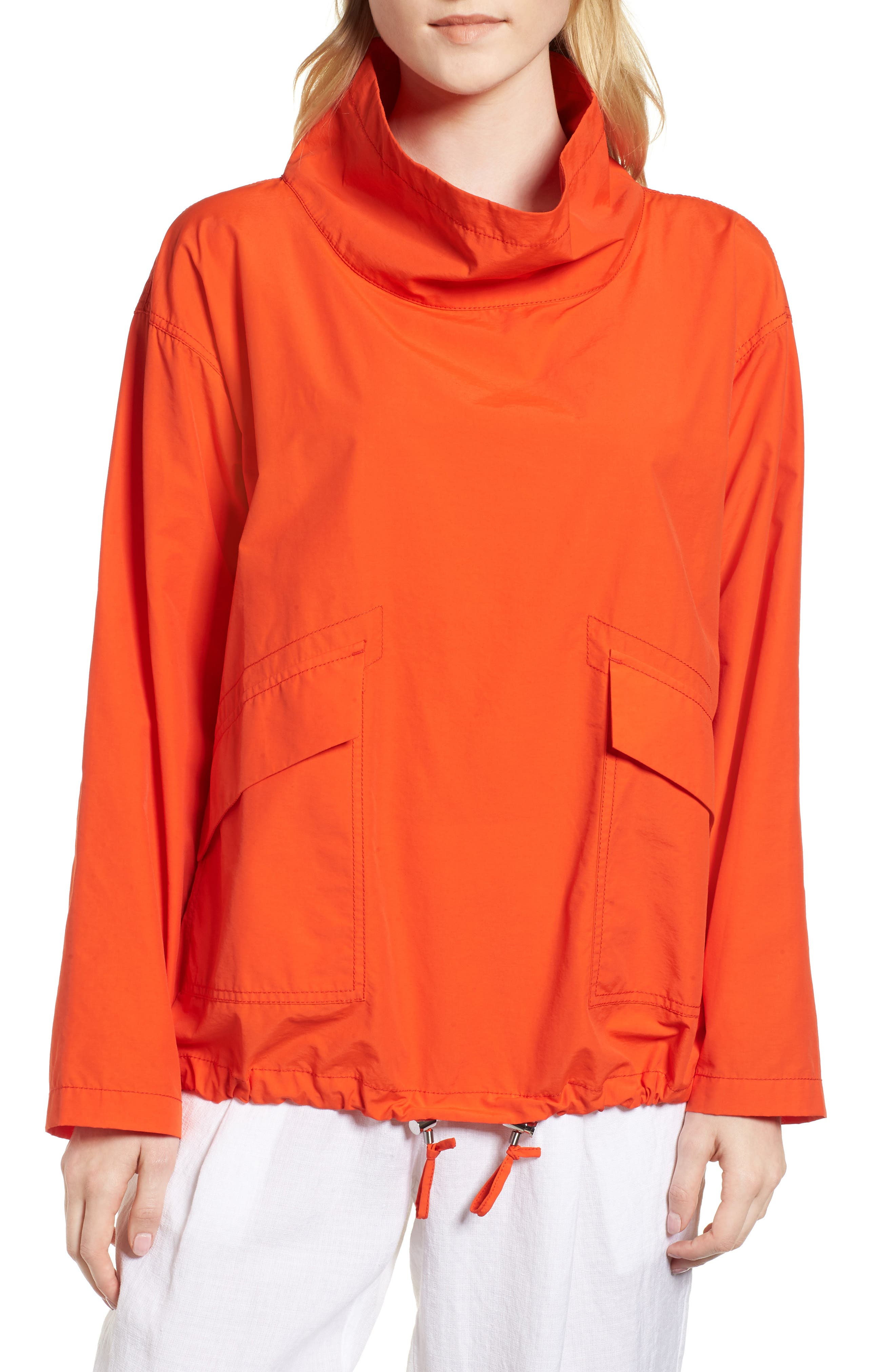 Pullover Jacket,                         Main,                         color, Hot Red