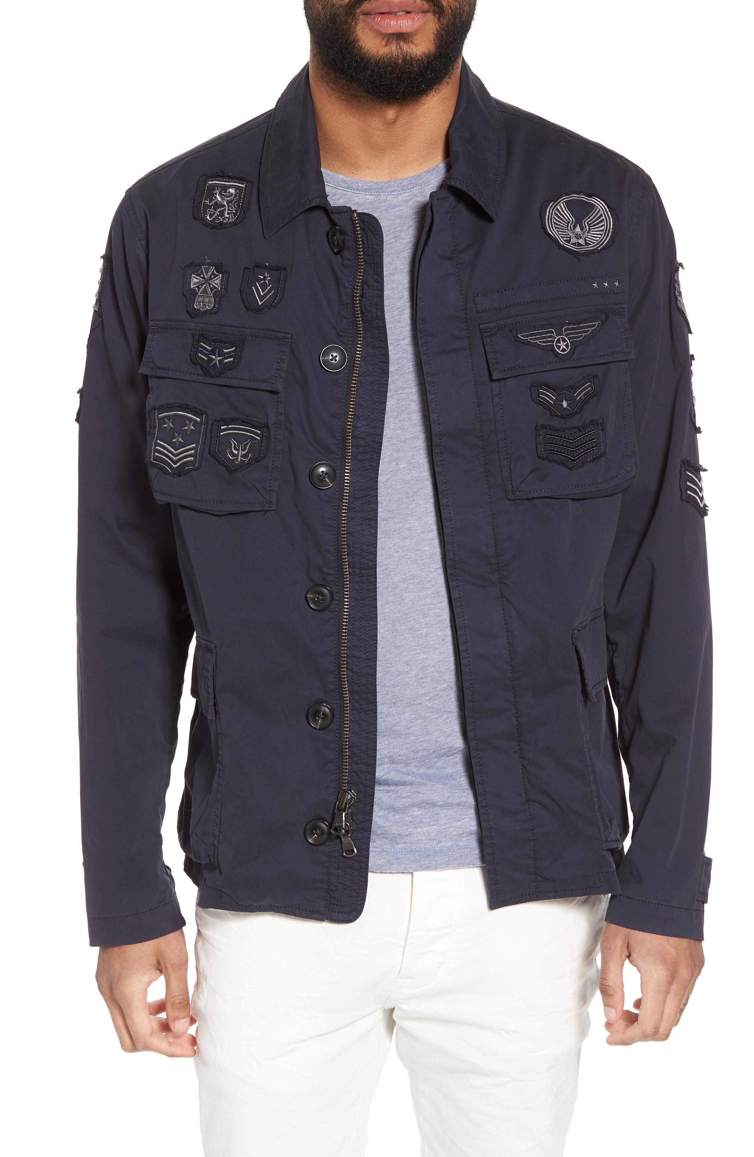 John Varvatos Regular Fit Patch Jacket