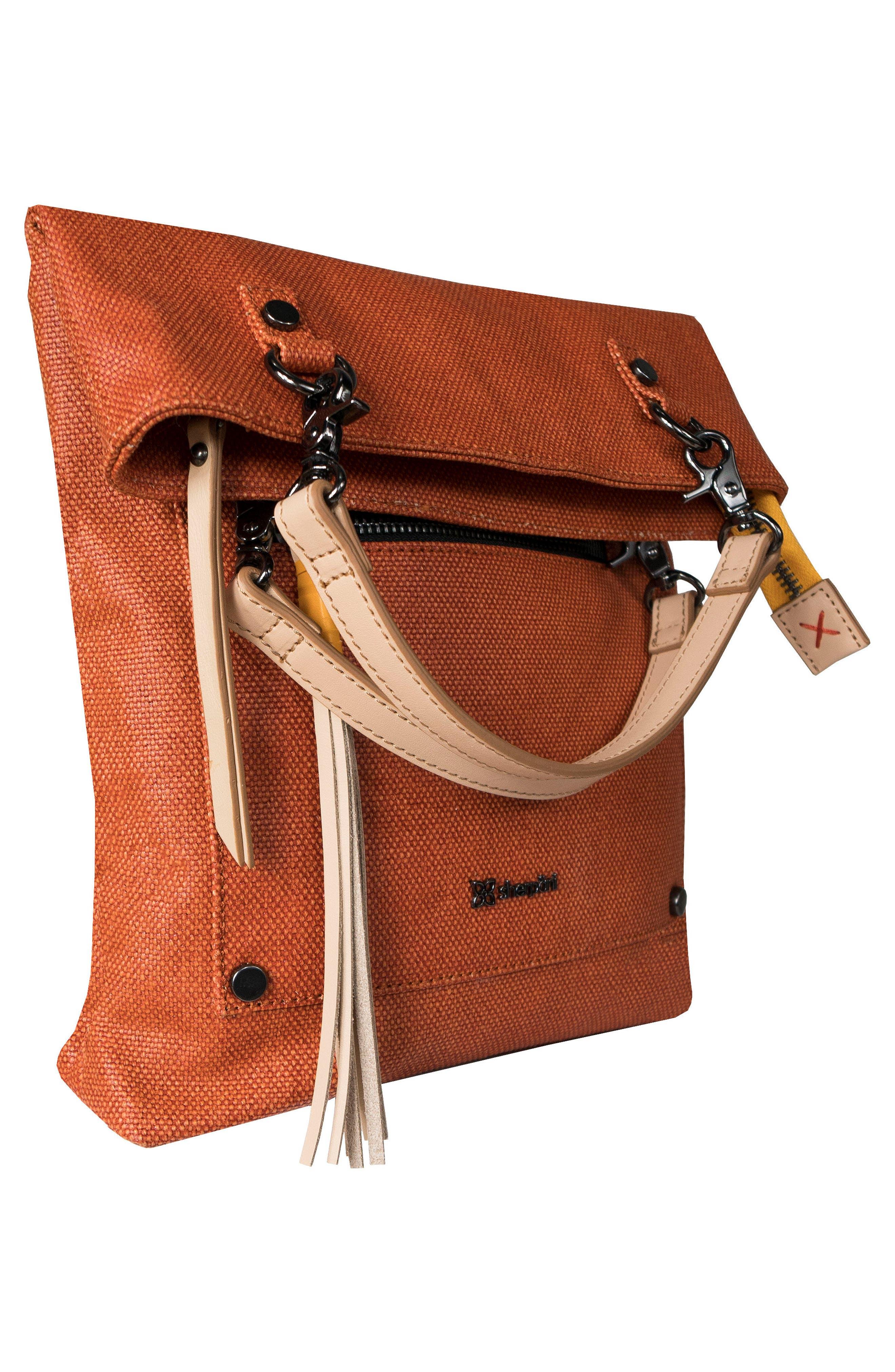 Rebel Coated Canvas Crossbody Bag,                             Alternate thumbnail 4, color,                             Copper