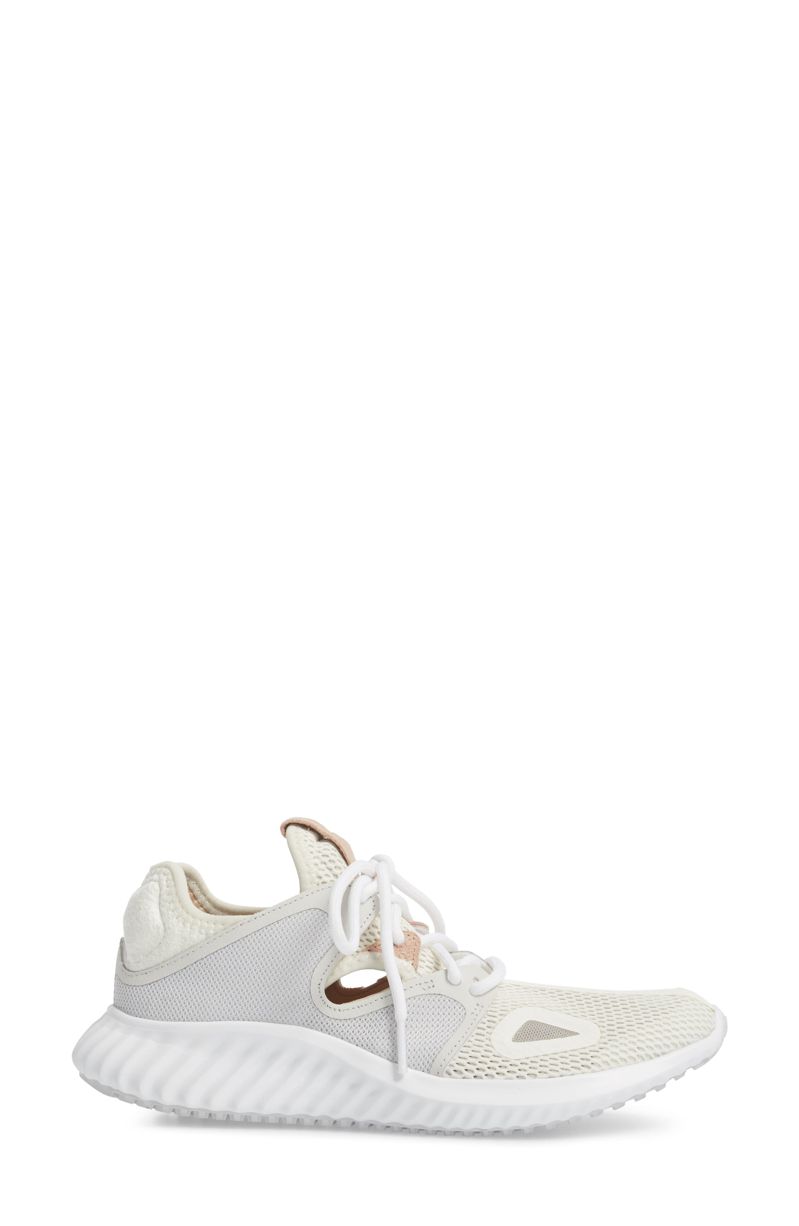 Run Lux Clima Running Shoe,                             Alternate thumbnail 3, color,                             Off White / Grey