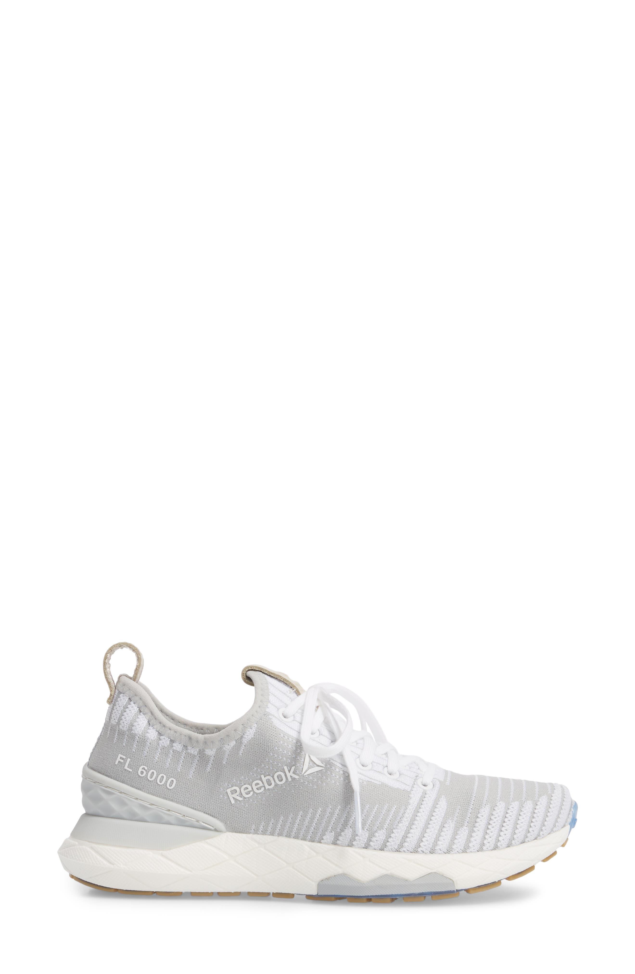 Floatride 6000 Running Shoe,                             Alternate thumbnail 3, color,                             White/ Skull Grey