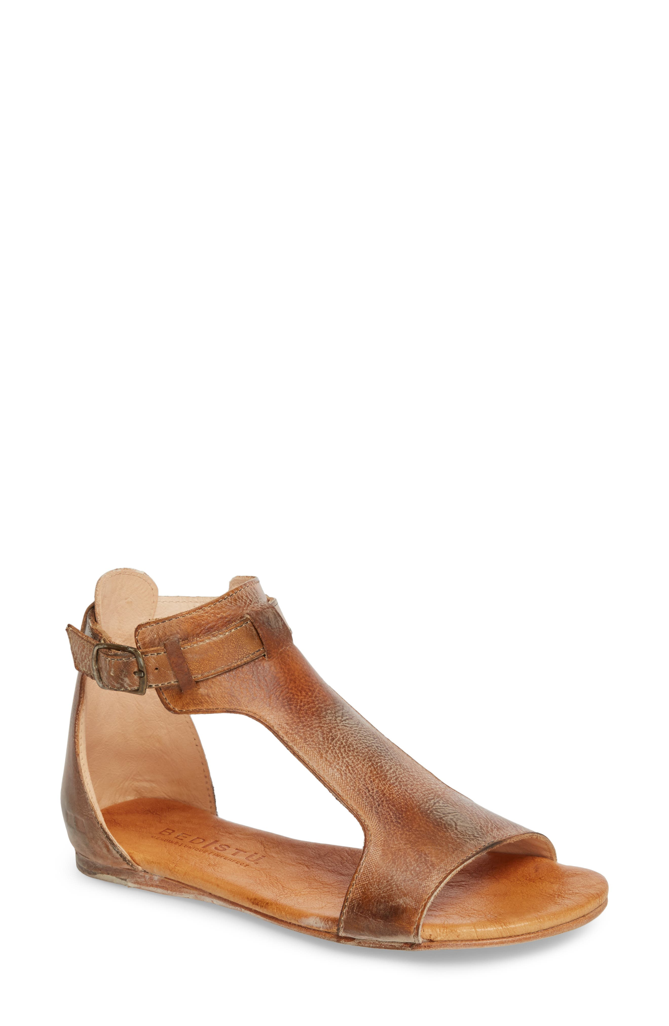 Sable Sandal,                         Main,                         color, Tan/ White Leather