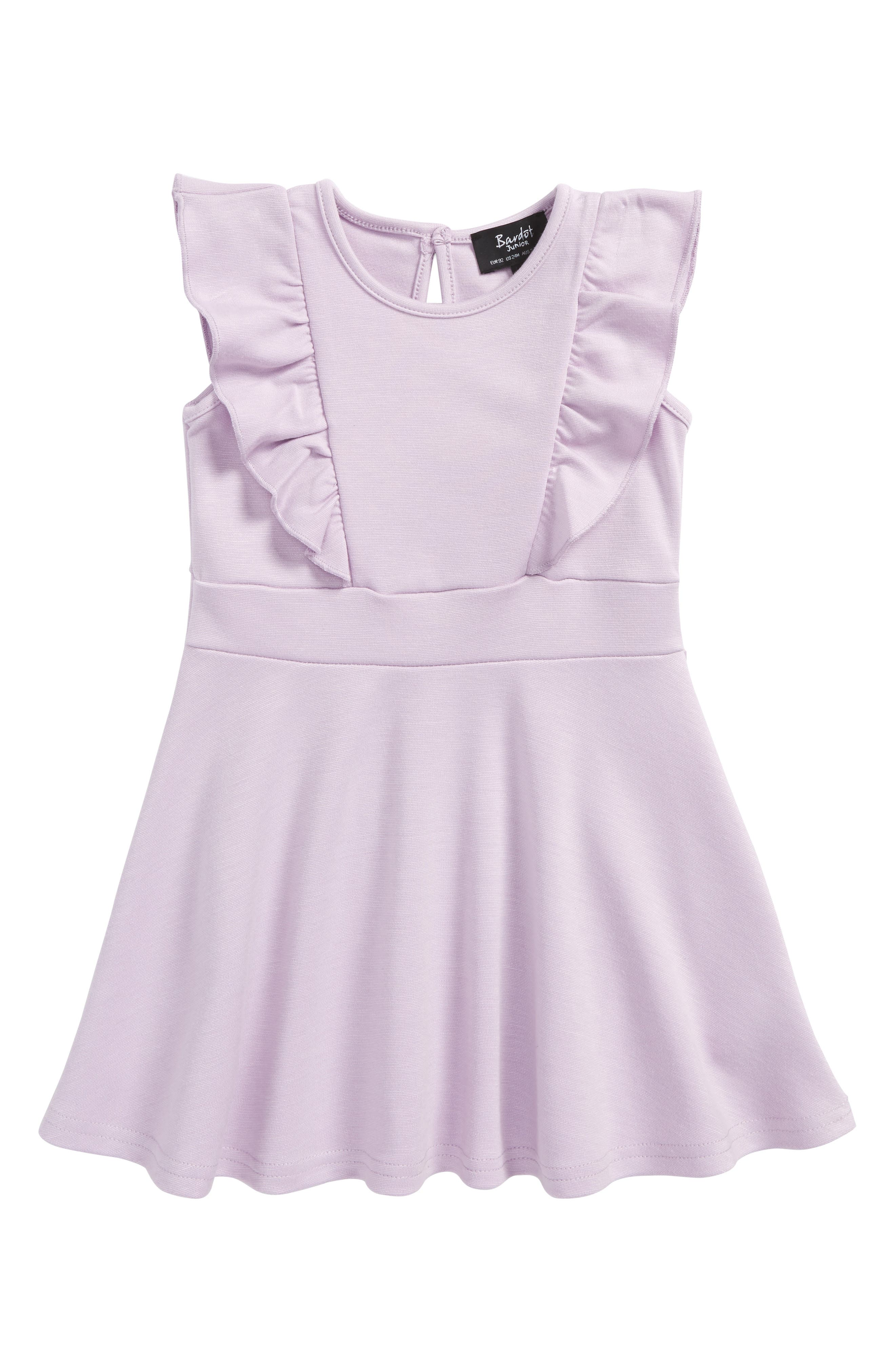 Ruffle Dress,                         Main,                         color, Orchid