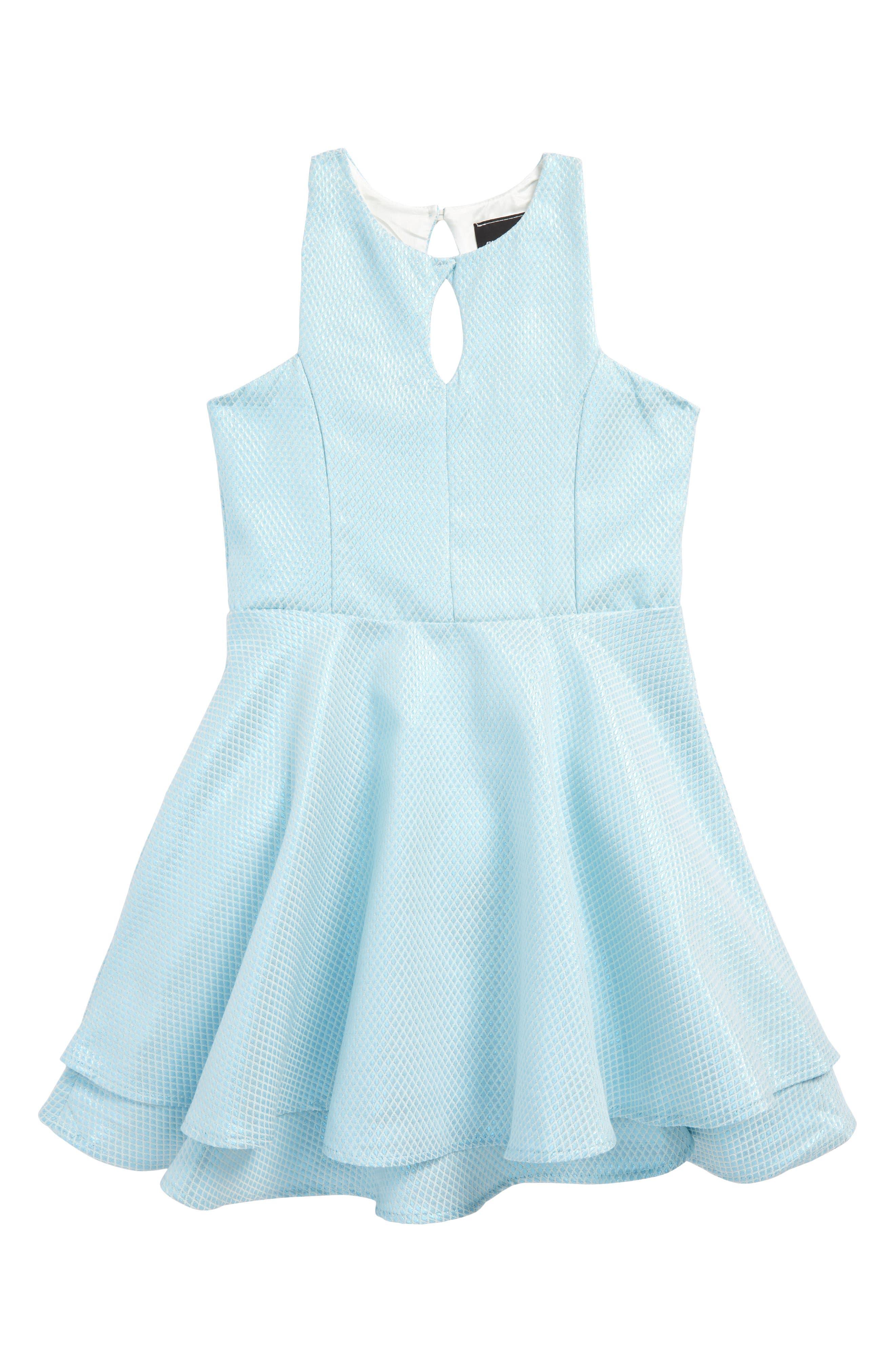 Sleeveless Party Dress,                         Main,                         color, Blue