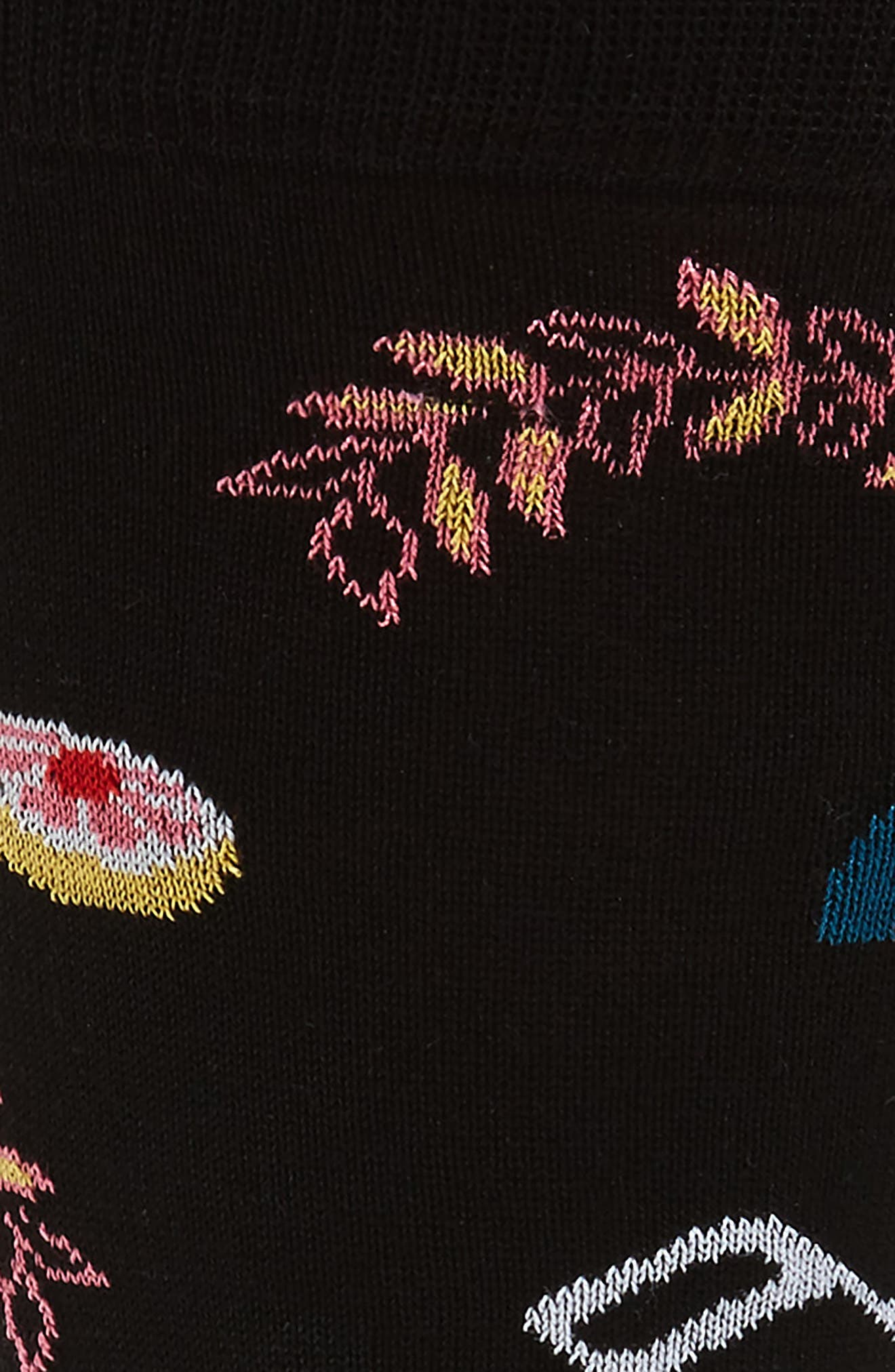 Mercerized Cotton Blend Socks,                             Alternate thumbnail 2, color,                             Black