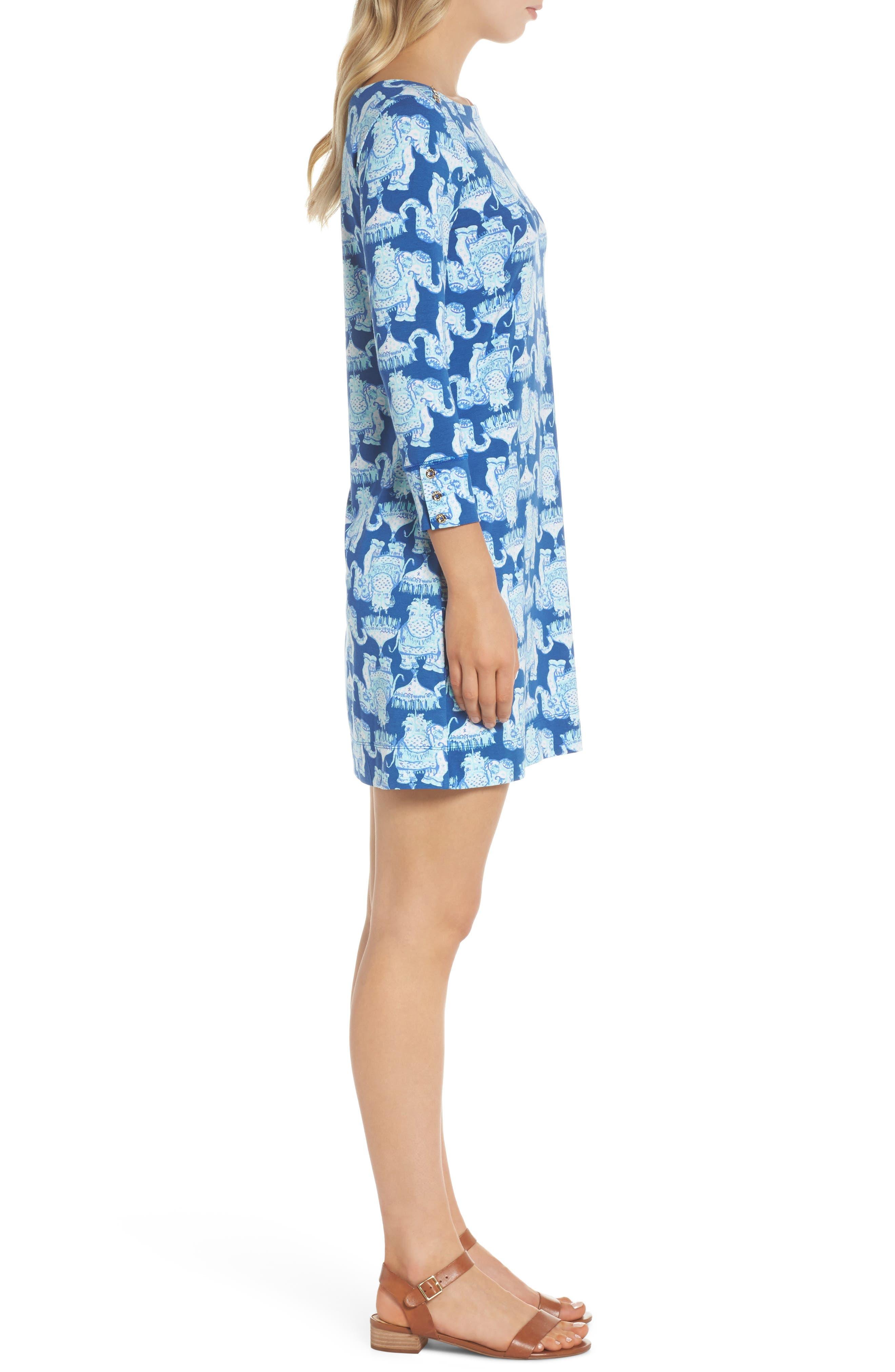 Sophie UPF 50+ Shift Dress,                             Alternate thumbnail 3, color,                             Deep Indigo Joy Ride