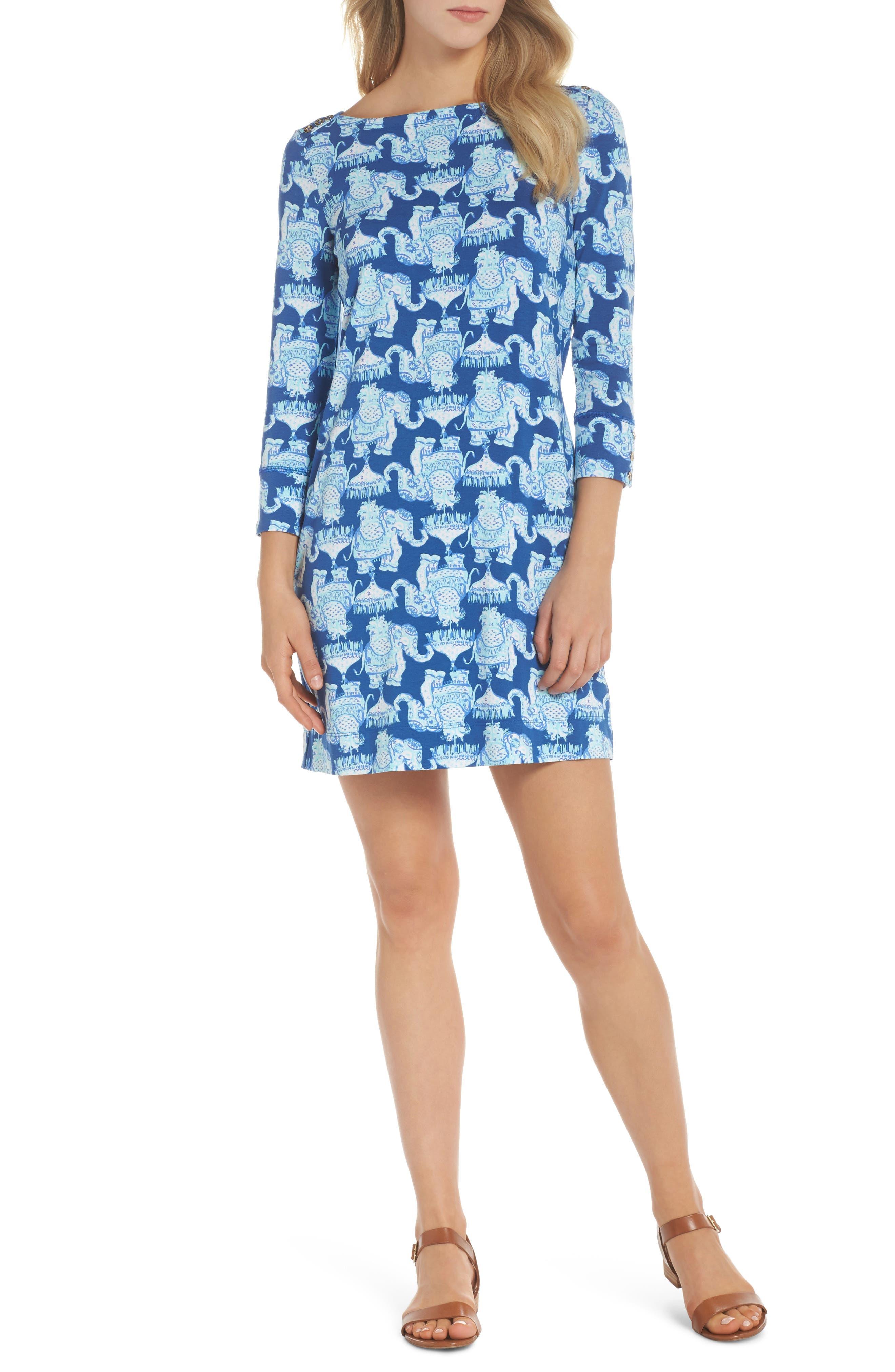 Sophie UPF 50+ Shift Dress,                         Main,                         color, Deep Indigo Joy Ride