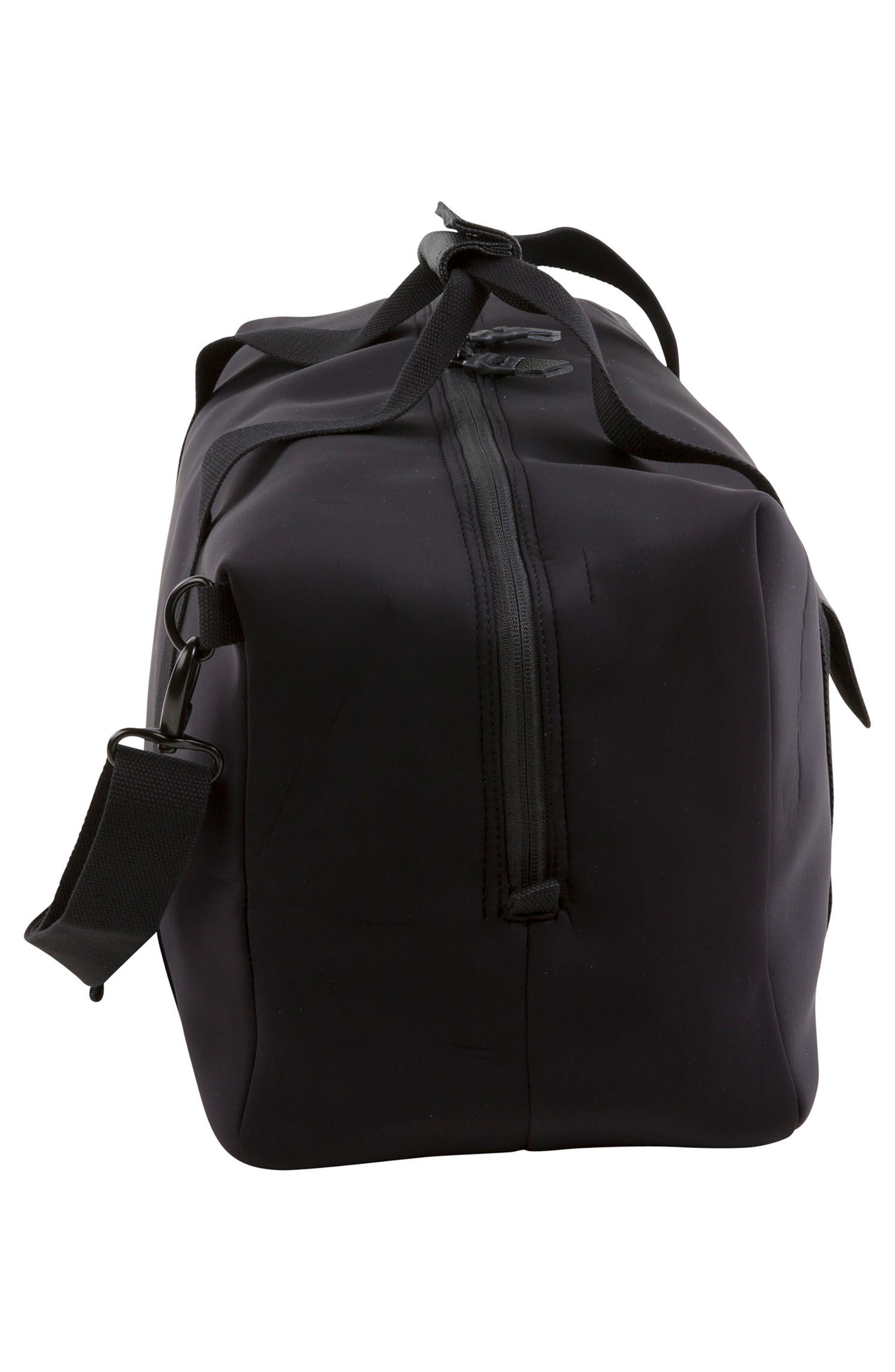 Duffel Bag,                             Alternate thumbnail 4, color,                             Black Neoprene