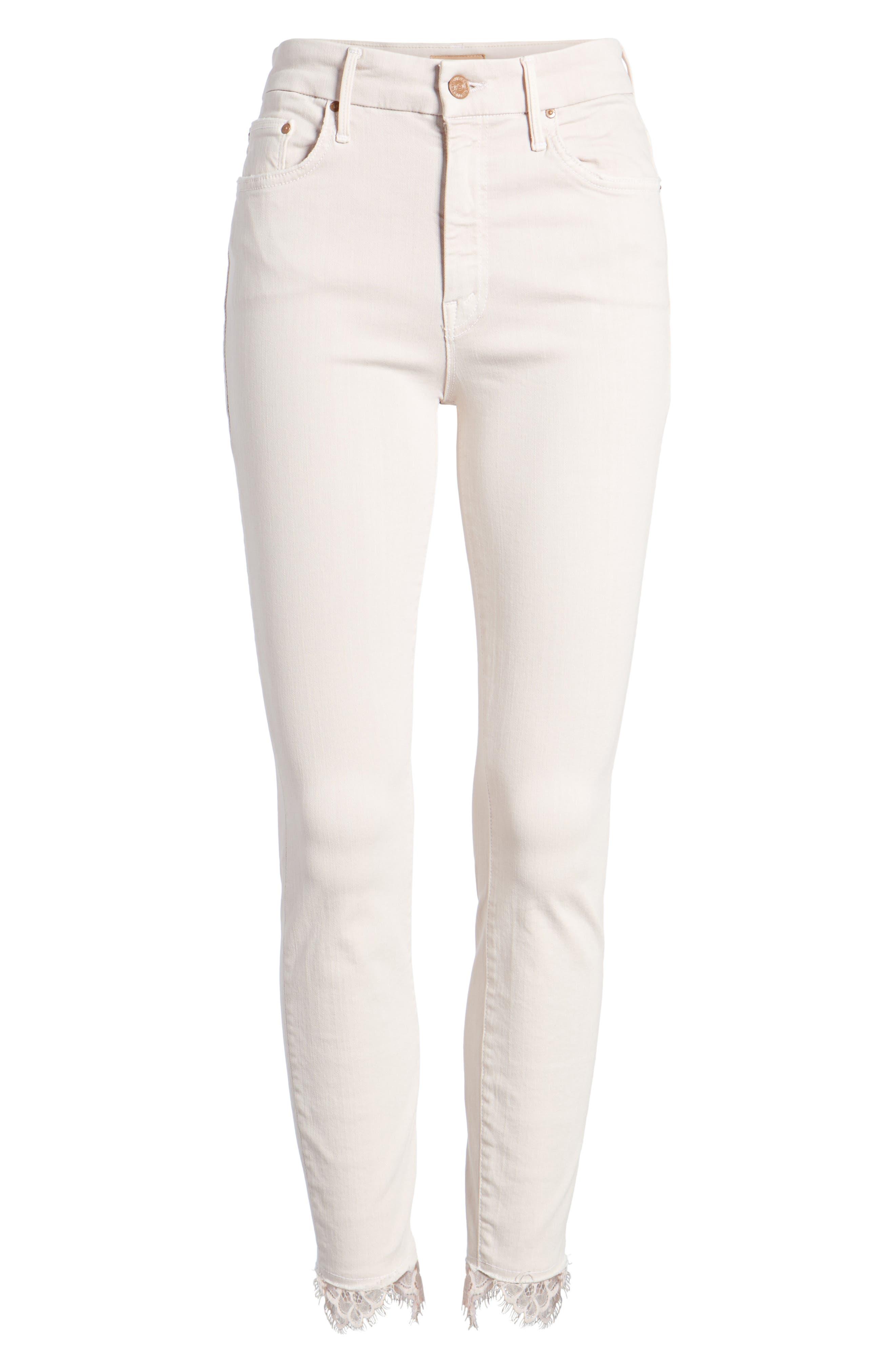 The Looker Dagger High Waist Ankle Skinny Jeans,                             Alternate thumbnail 7, color,                             Blush