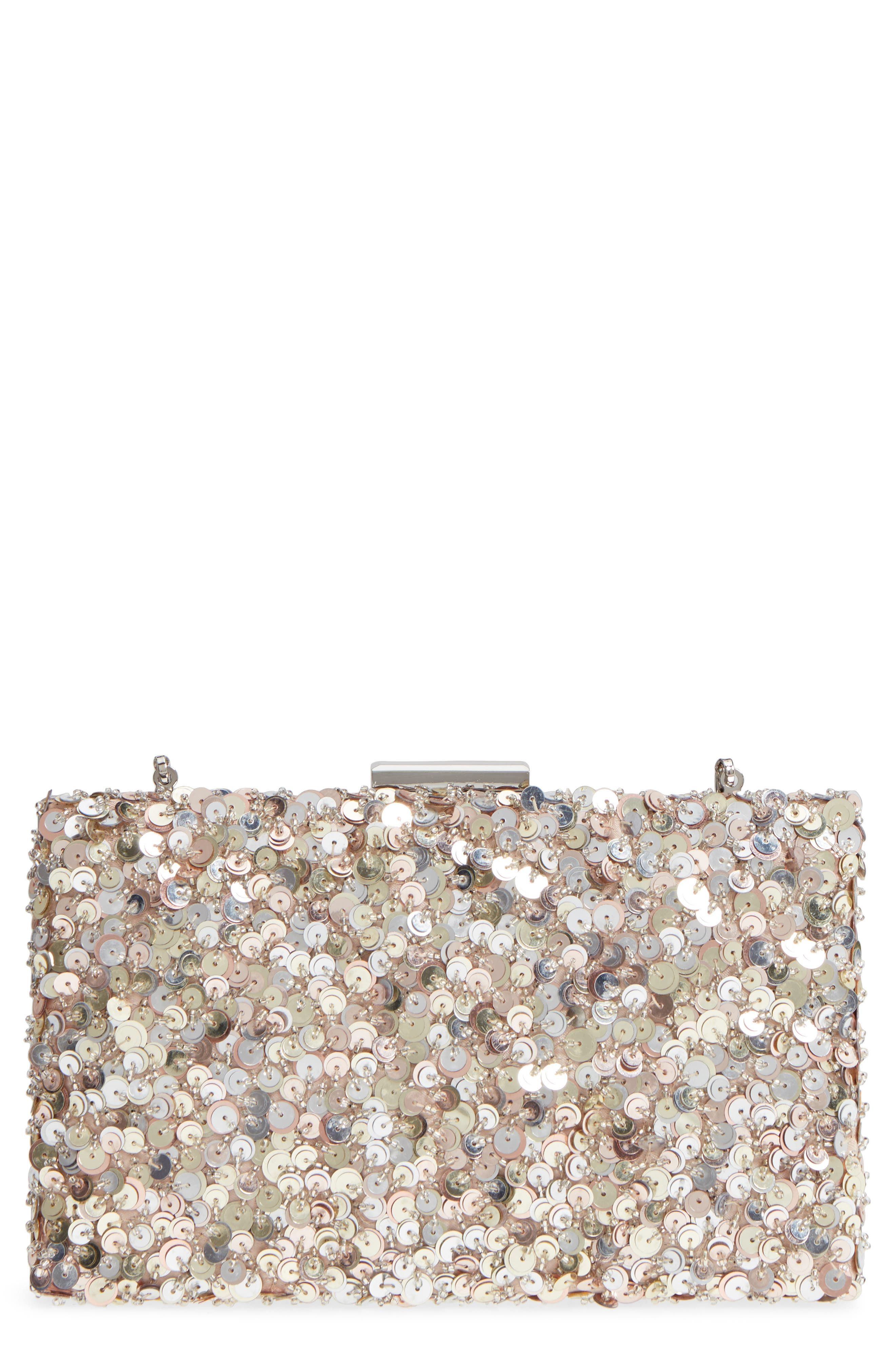 Sequin Disco Miniaudière,                         Main,                         color, Blush