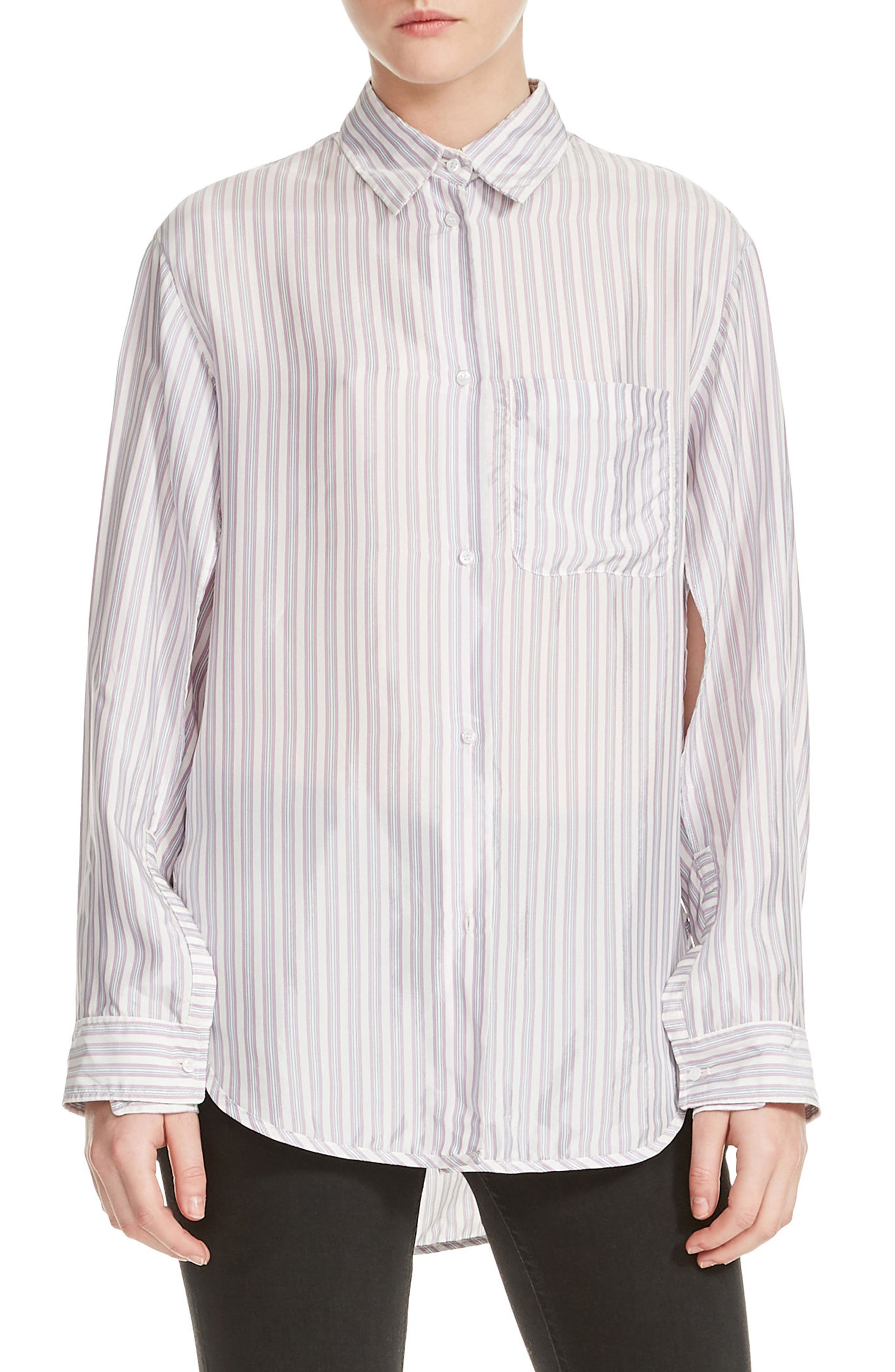 Celina High/Low Stripe Blouse,                             Main thumbnail 1, color,                             Stripe