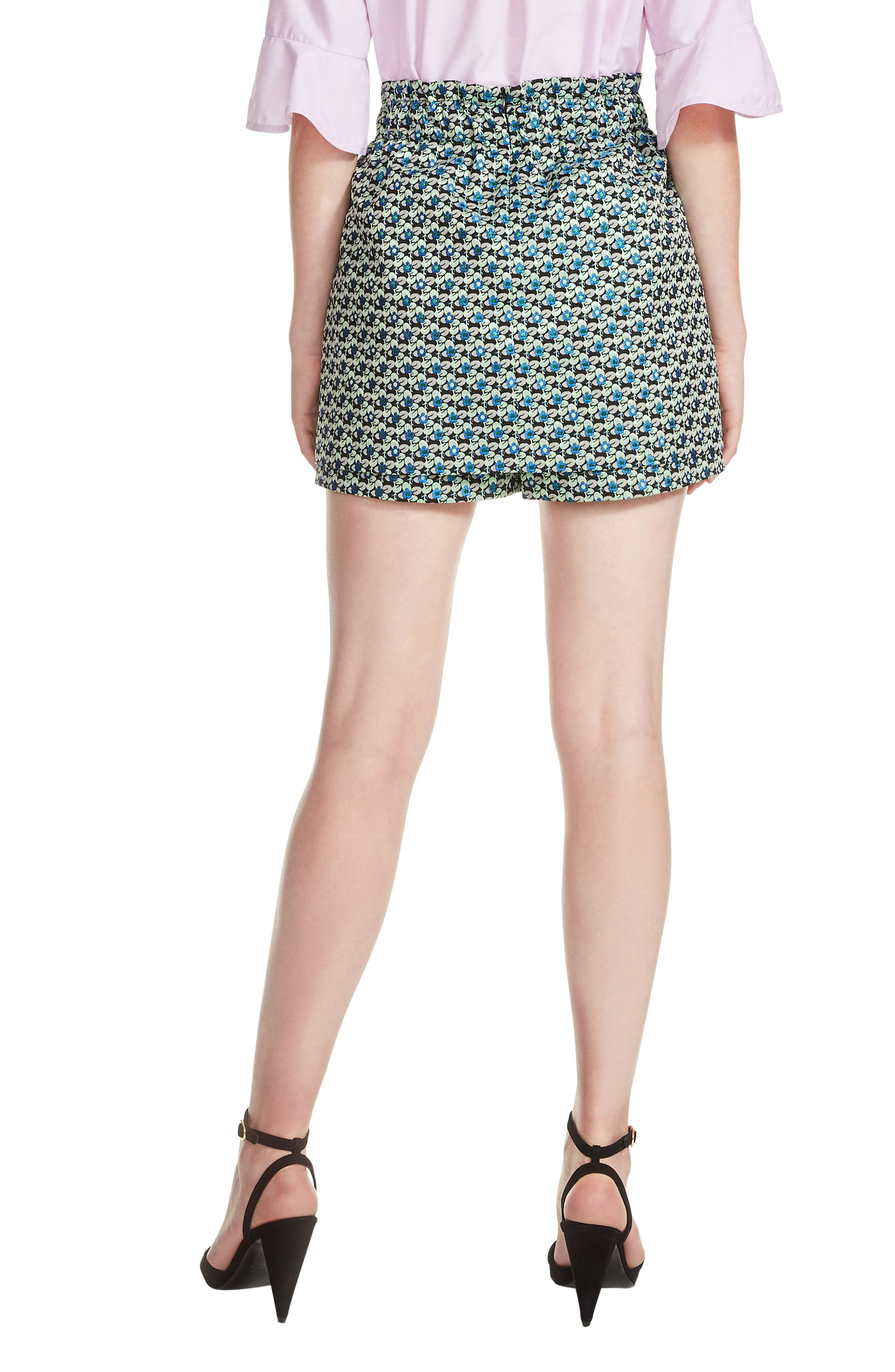 Floral Culotte Shorts,                             Alternate thumbnail 2, color,                             Jacquard