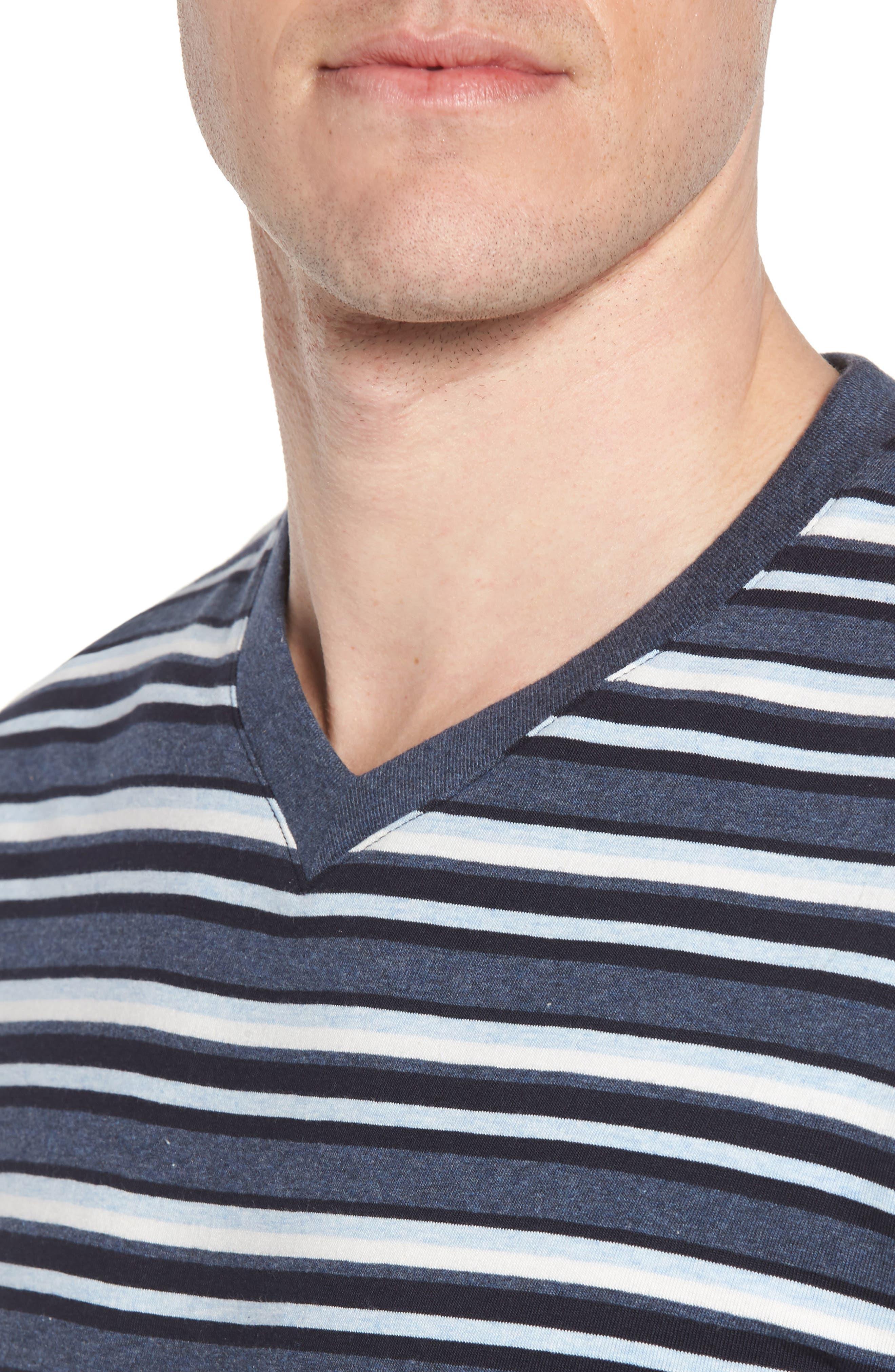 Majetic International Sleep On It Pajama Set,                             Alternate thumbnail 4, color,                             Alfresco Stripe