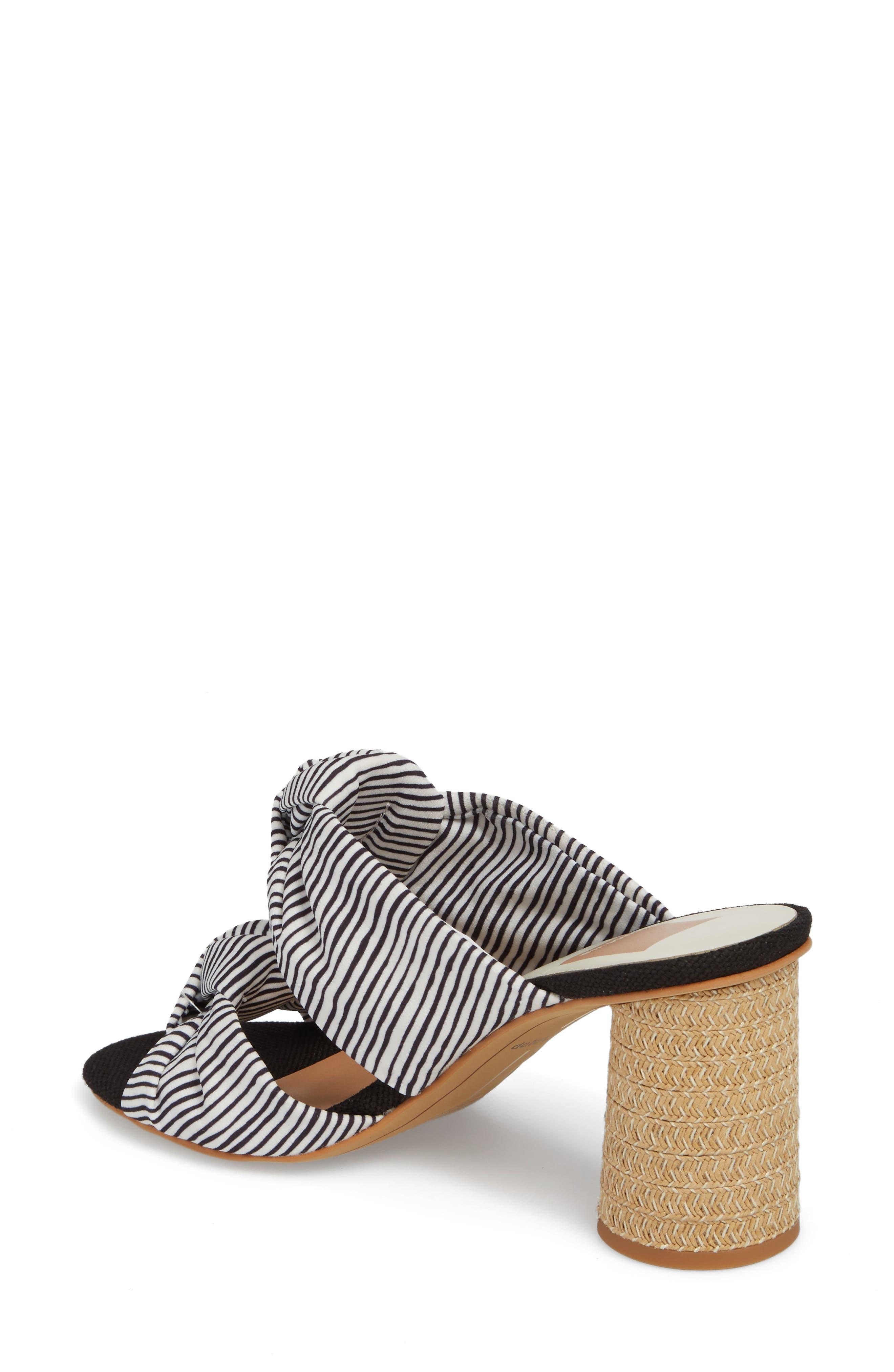 Jene Double Knot Sandal,                             Alternate thumbnail 2, color,                             White Stripe