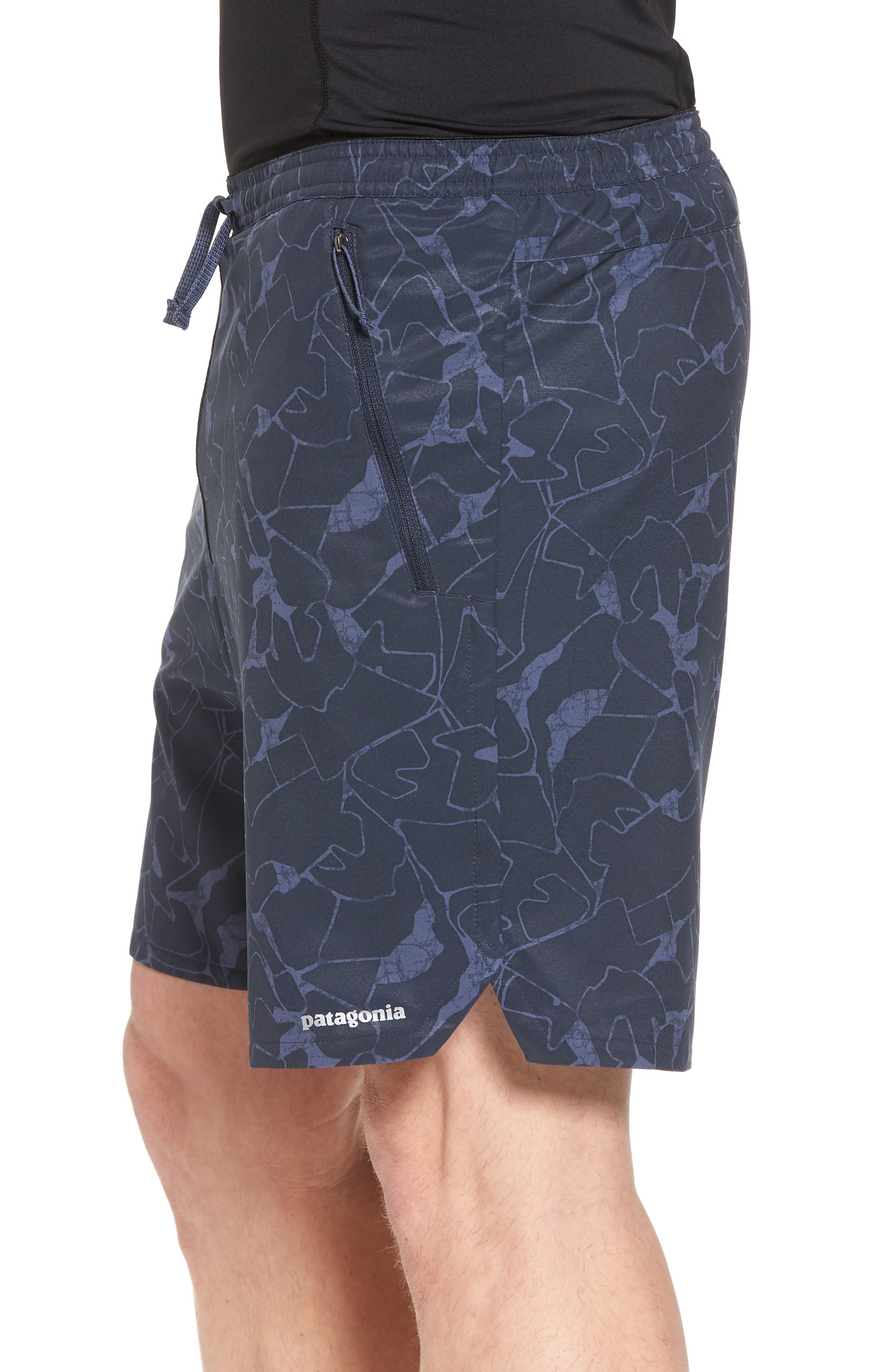 Nine Trails Hiking Shorts,                             Alternate thumbnail 3, color,                             Rock Jigsaw/ Smolder Blue