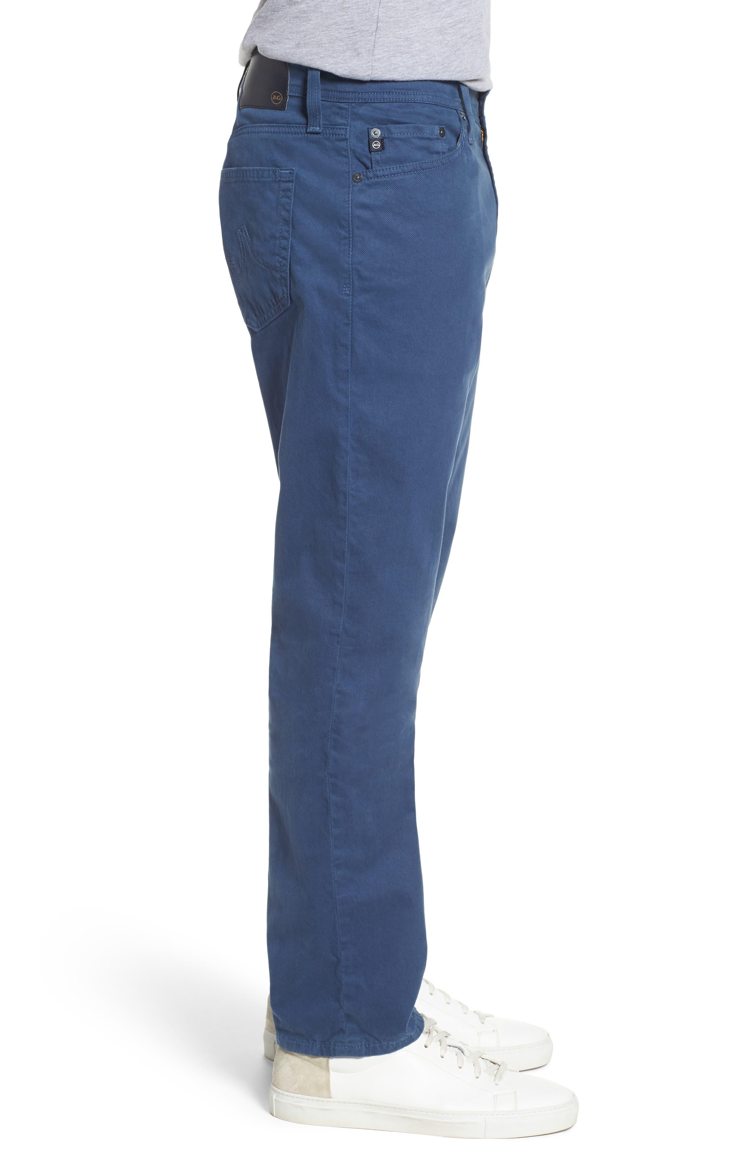 Alternate Image 3  - AG Herringbone Everett SUD Straight Leg Pants