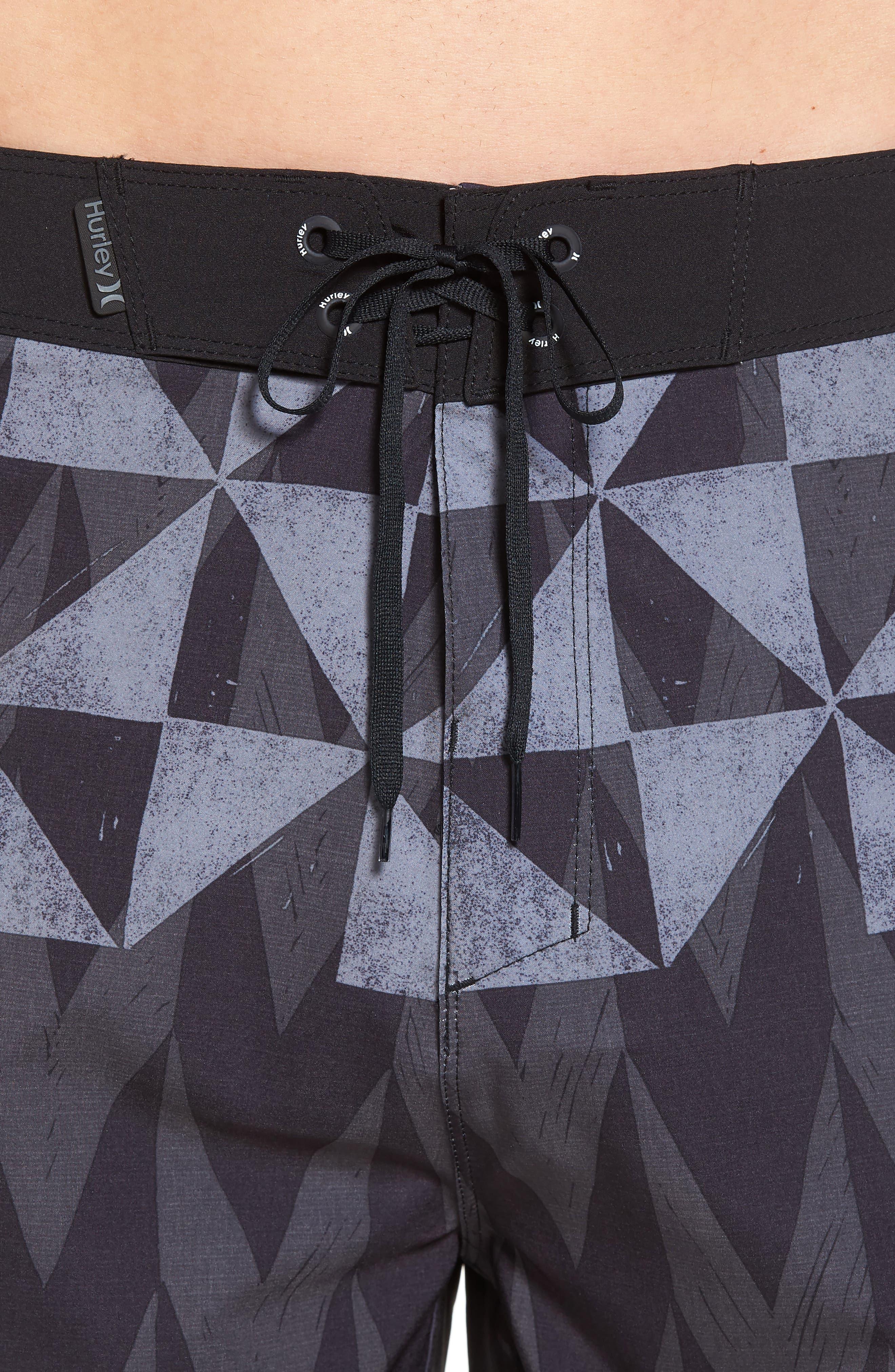 Phantom Bula Board Shorts,                             Alternate thumbnail 4, color,                             Black