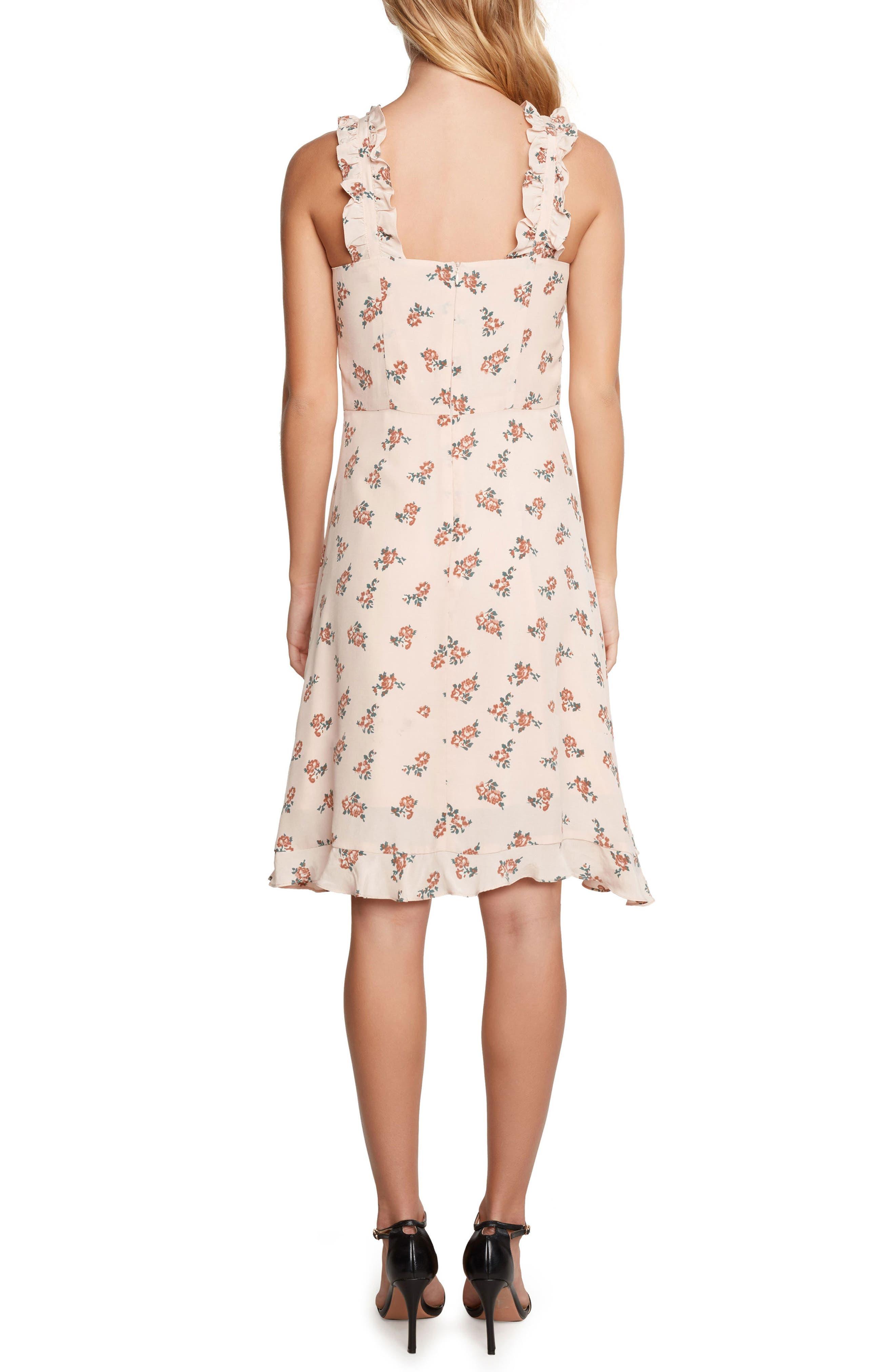 Ruffle Dress,                             Alternate thumbnail 2, color,                             Peach