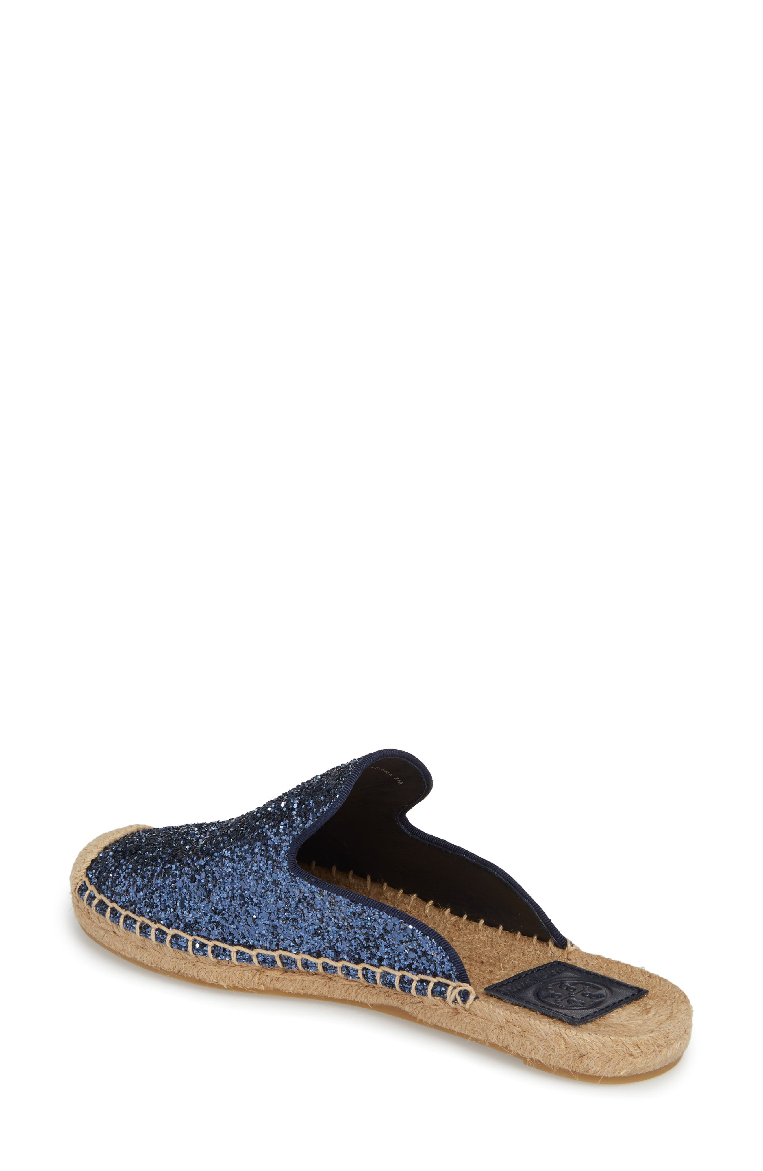 Max Glitter Espadrille Mule,                             Alternate thumbnail 2, color,                             Perfect Navy