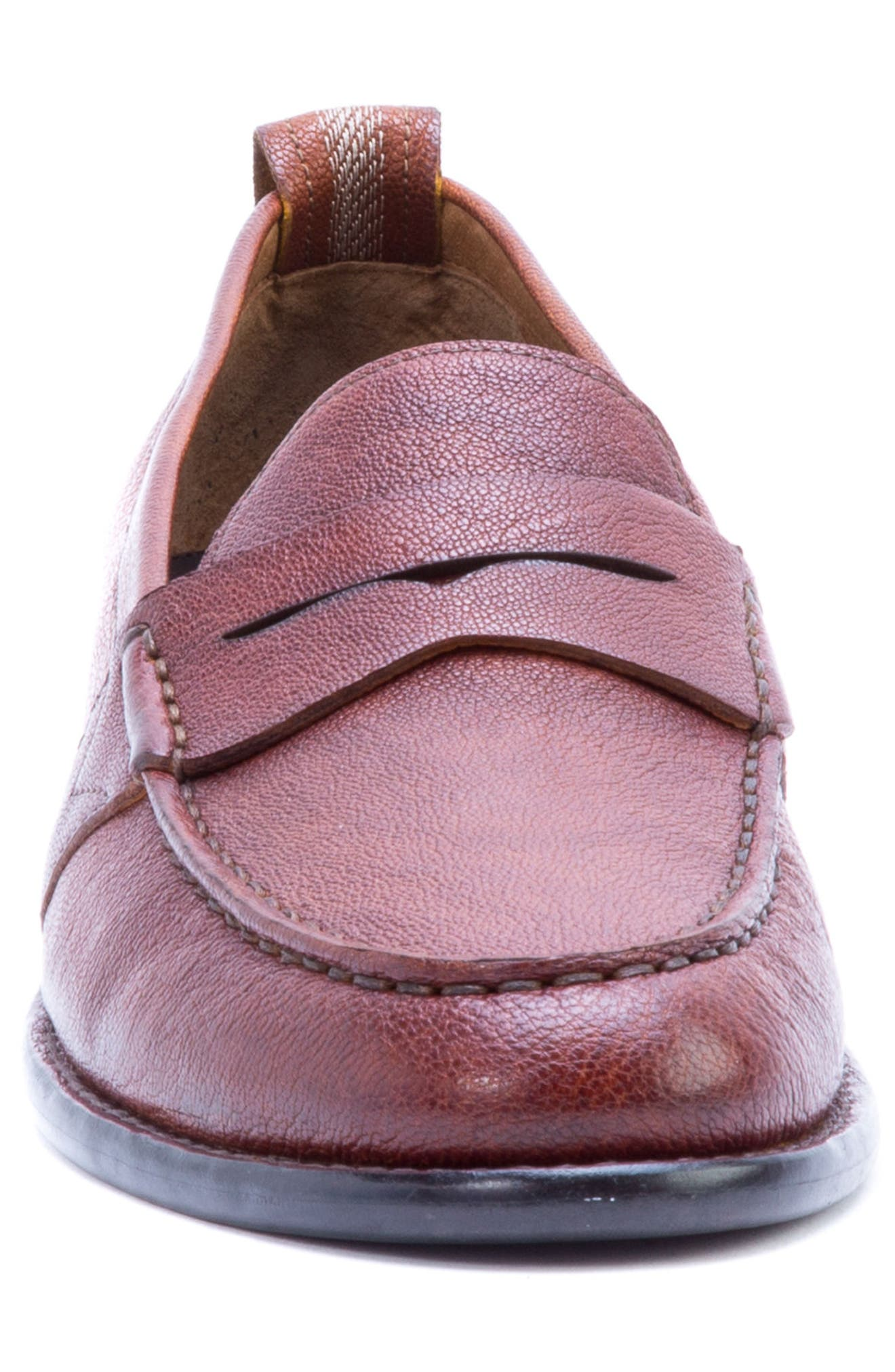 Torres Penny Loafer,                             Alternate thumbnail 4, color,                             Cognac Leather