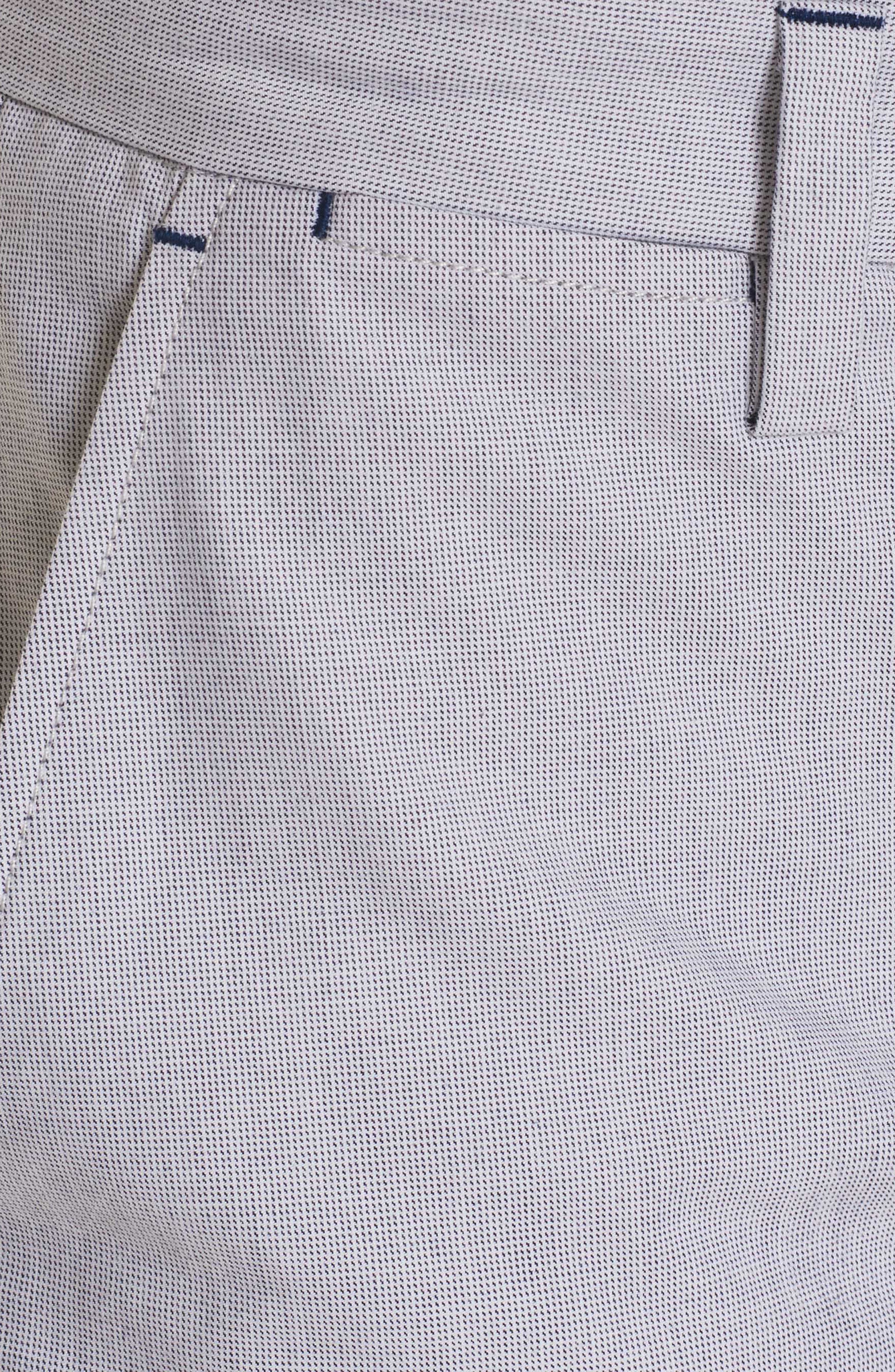 Gerardo Tailored Fit Pants,                             Alternate thumbnail 4, color,                             White